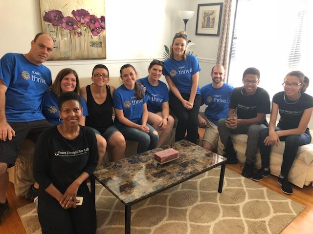 Hyatt Regency volunteers here with our happy client!
