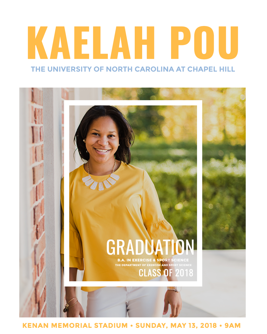 sample custom graduation announcement design