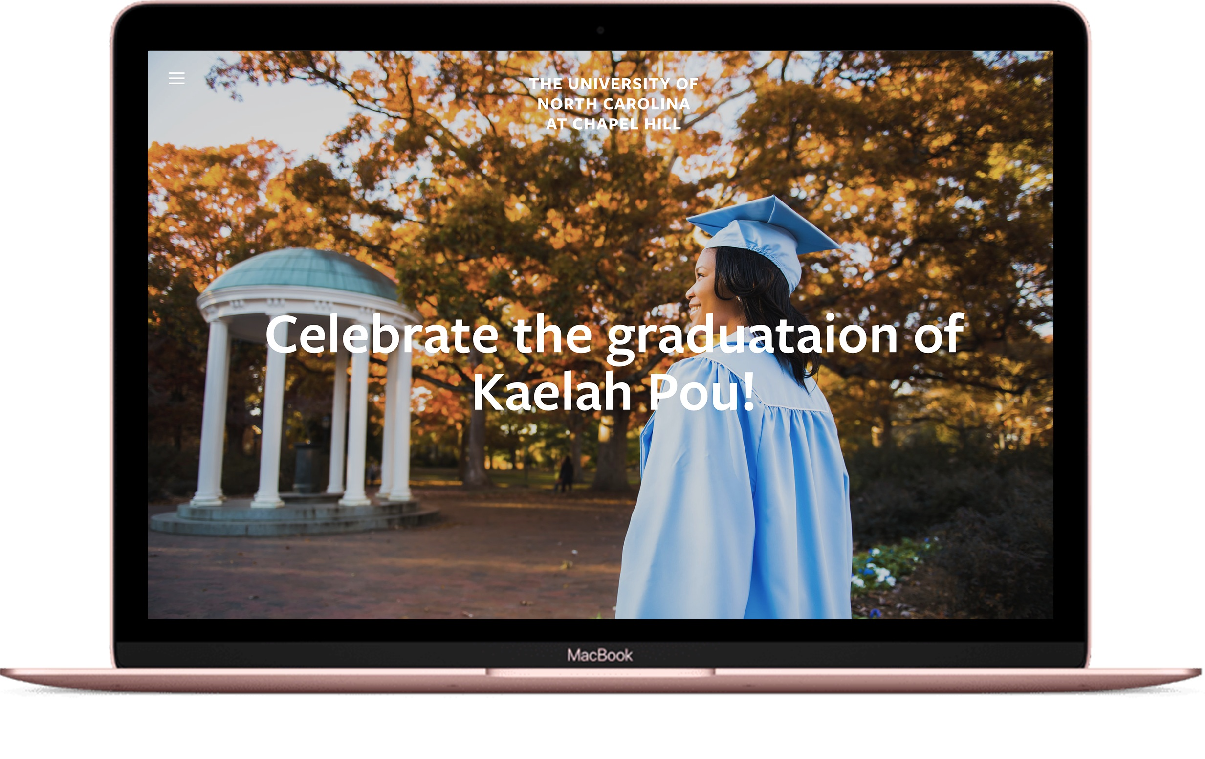 sample custom graduation announcement website design