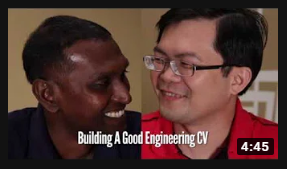 How to Build A Good Engineering CV - A good overview video of how to critque and create a resume. Video created by ready4work.my