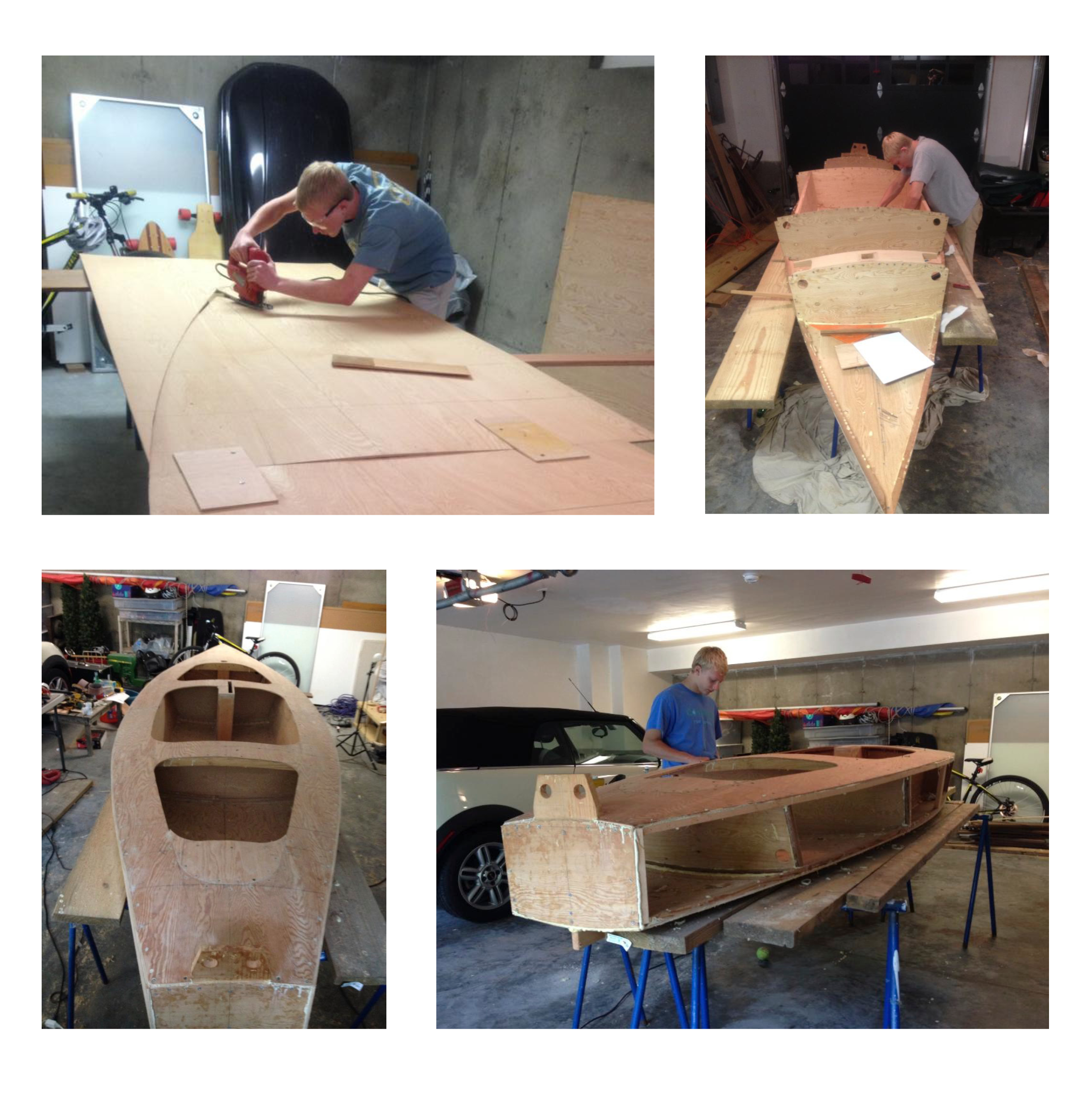 Construction - Through the process of building this boat from scratch, I learned about bridging the gap between an idea, which can have vagueness, and a concrete physical object, in which every detail must be carfeully considered and executed.