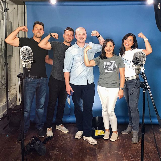 Today's shoot with @fightcrc was a blast — we're absolutely thrilled to team up with this organization to bring awareness to this disease 👊🏻