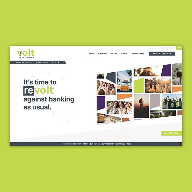 Volt Credit Union got a new website to go along with their fancy new name.⠀ •⠀ •⠀ •⠀ #hookcreative #webdesign #graphicdesign #design #digitalmarketing #website #digitaldesign #ui #ux #uxdesign #webdevelopment #digitalagency #userinterface #userexperience #agency #voltcu #creditunion