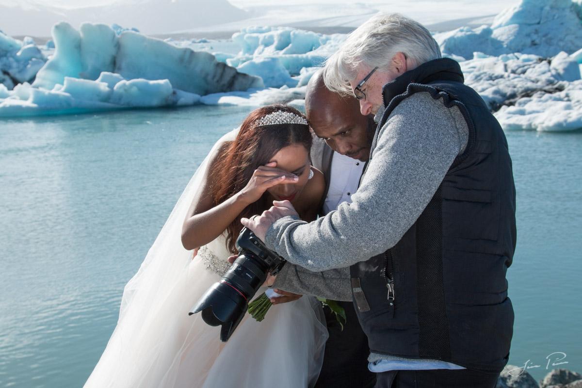 Wedding by the Glacier lagoon