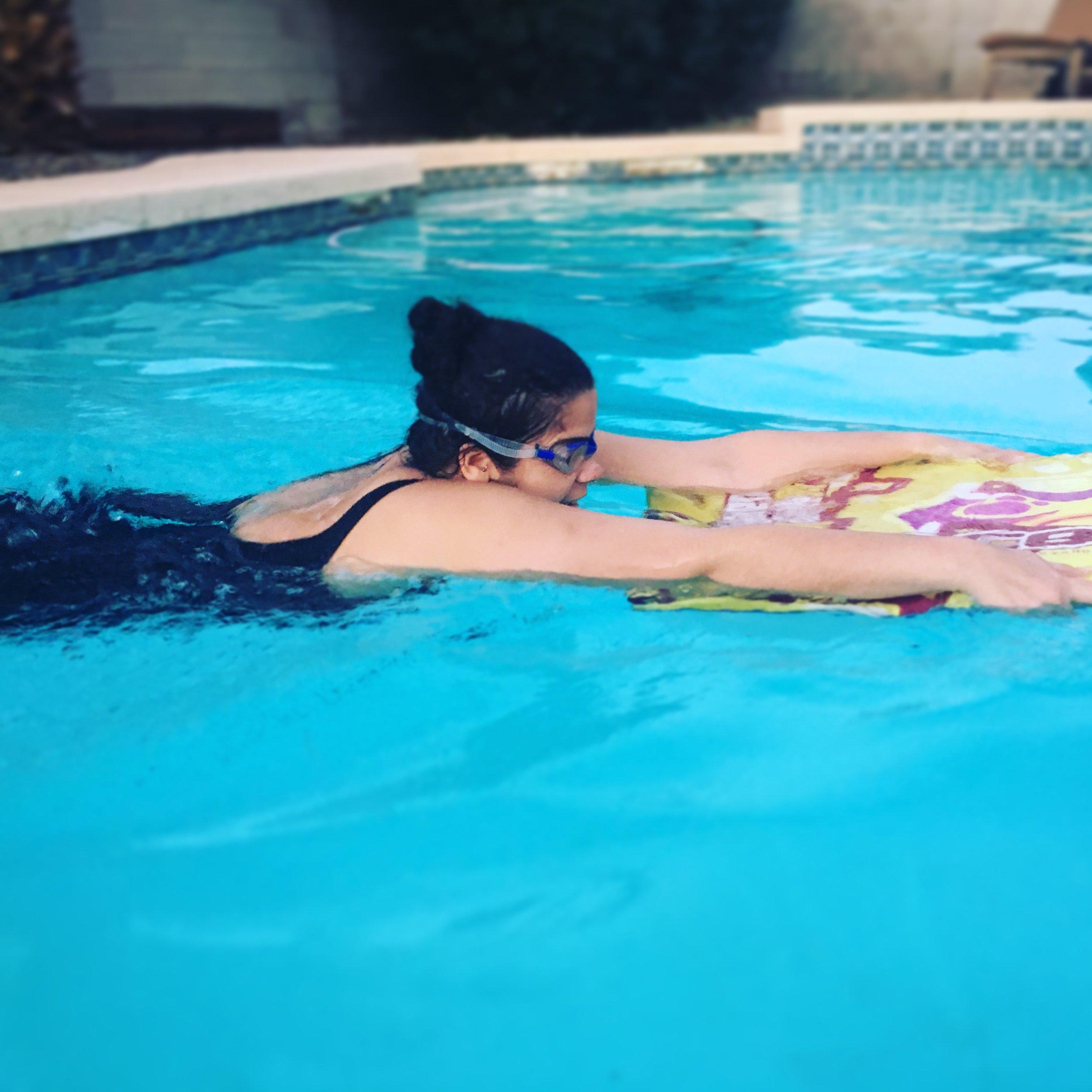 janell swimming woa