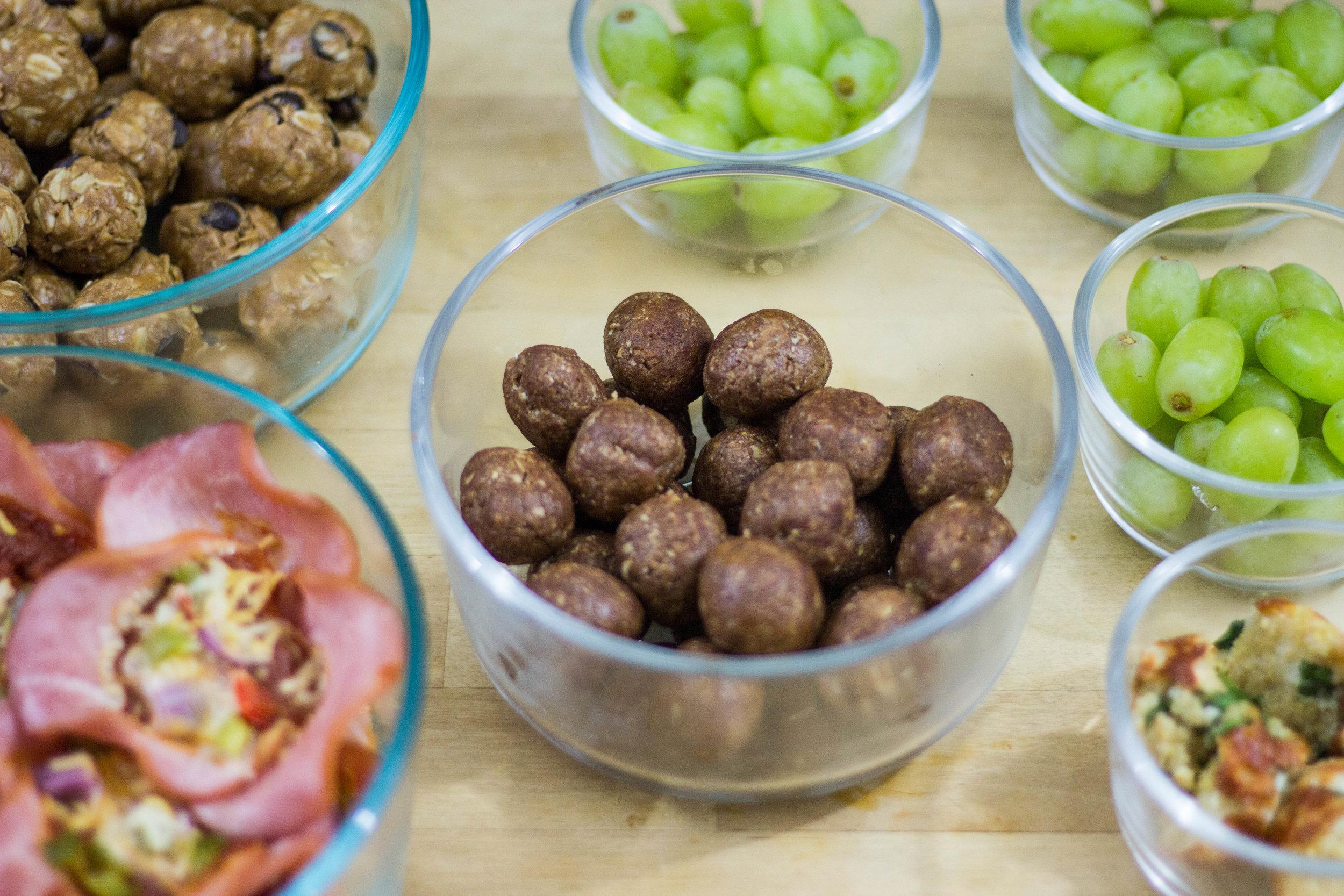 meal prep protein balls woa