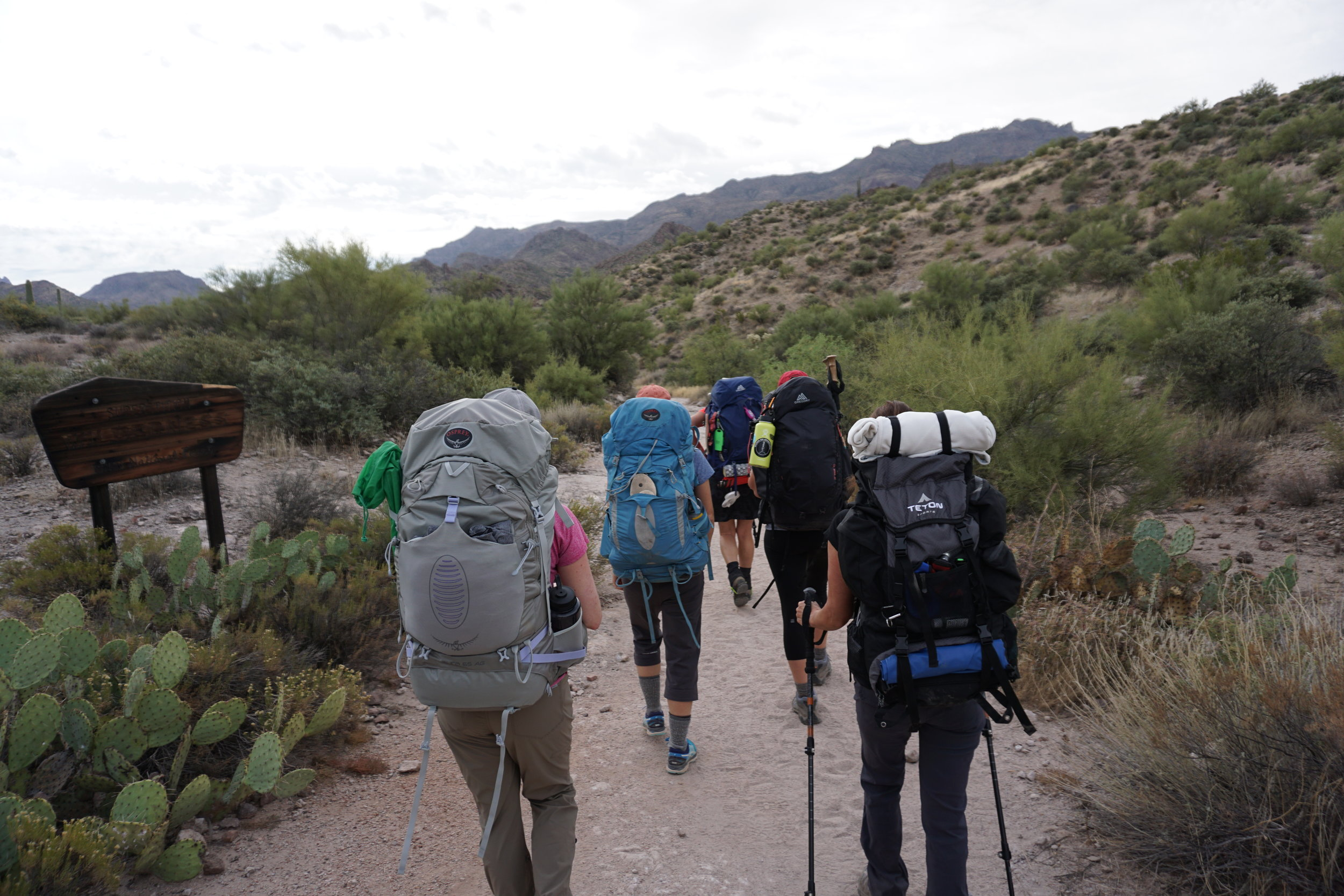 Women on Adventures heading out into the Superstitions in Phoenix.