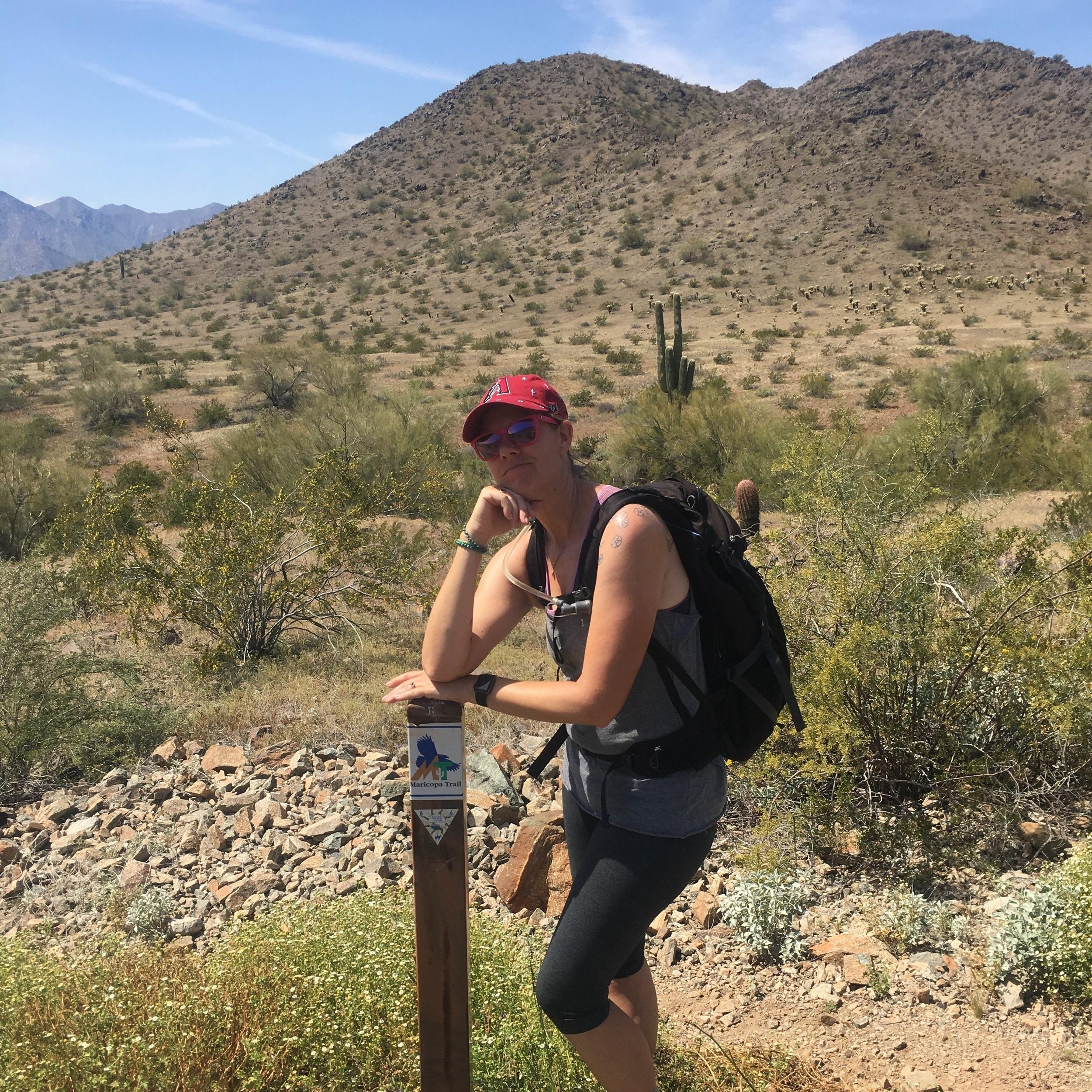 jenny hiking