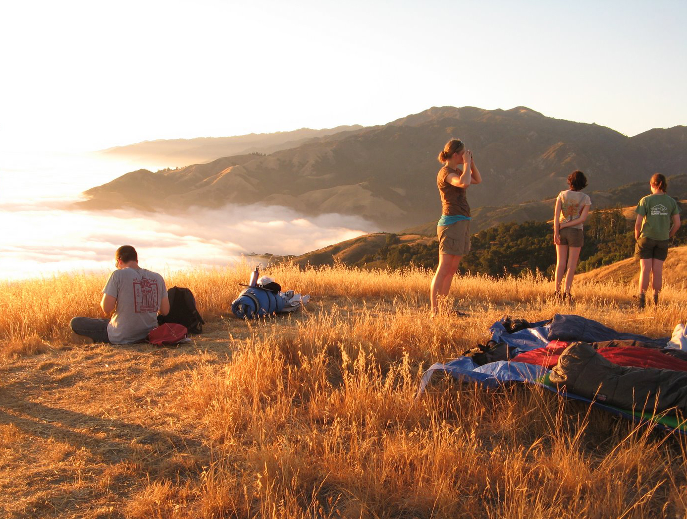 Sleeping out Big Creek mtntop Big Sur Su08.jpg