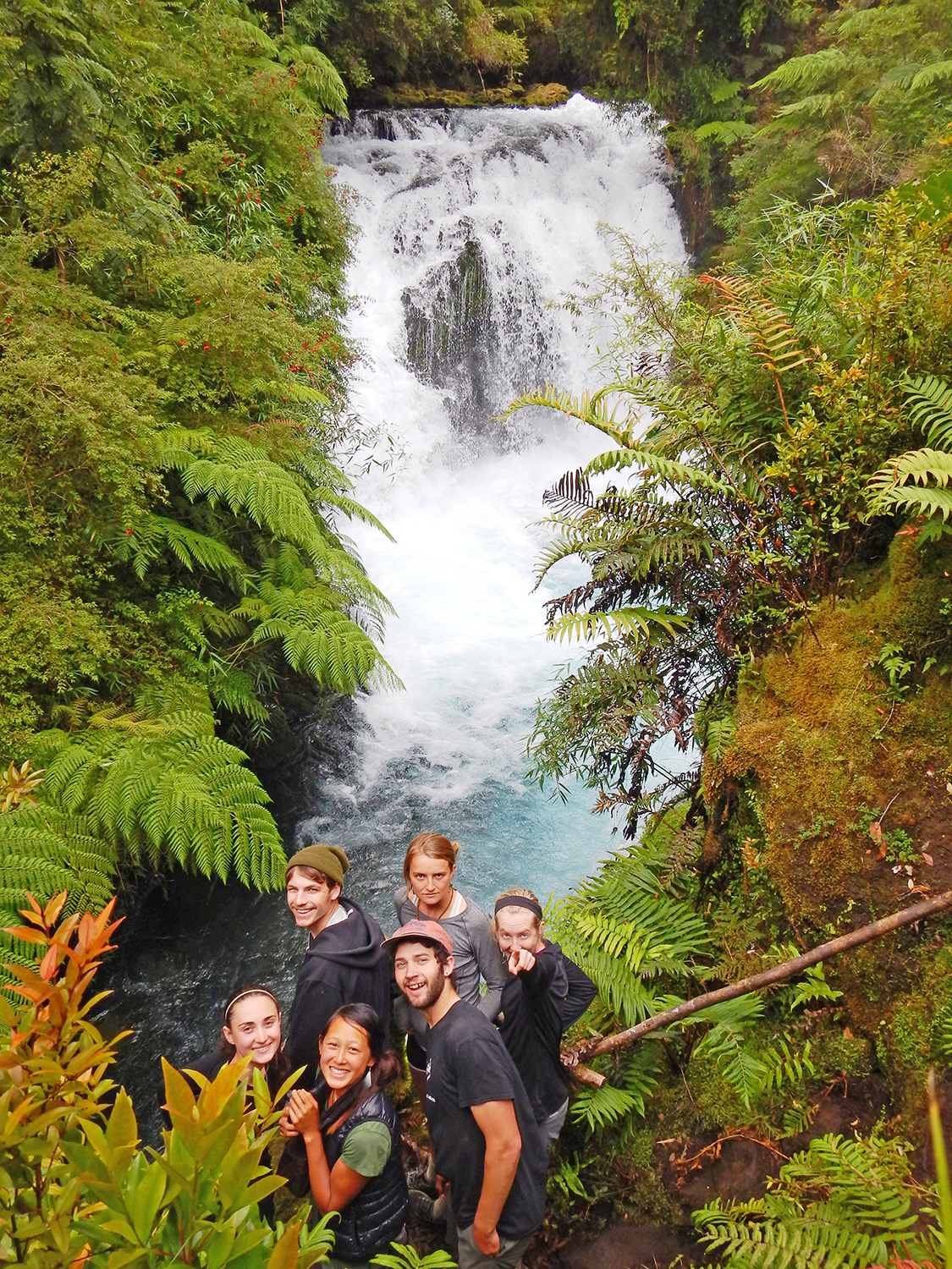 WS Chile waterfall with students.jpg