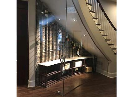 Under Stairs Glass