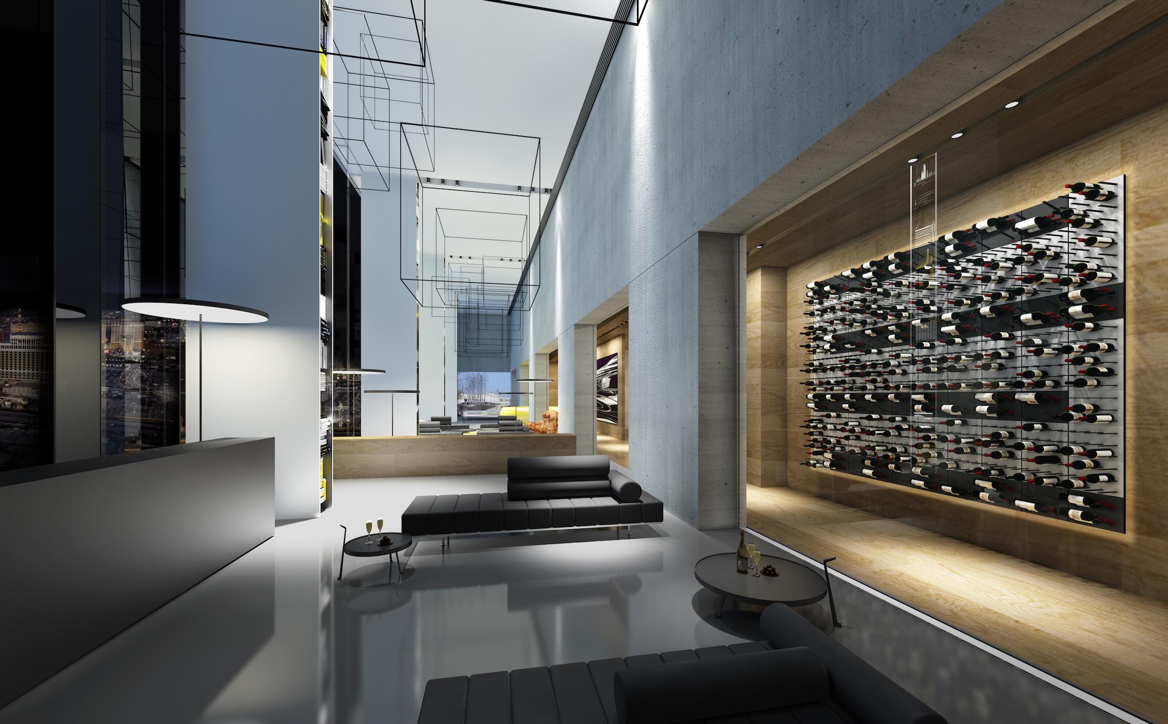 Hotel Foyer Glass