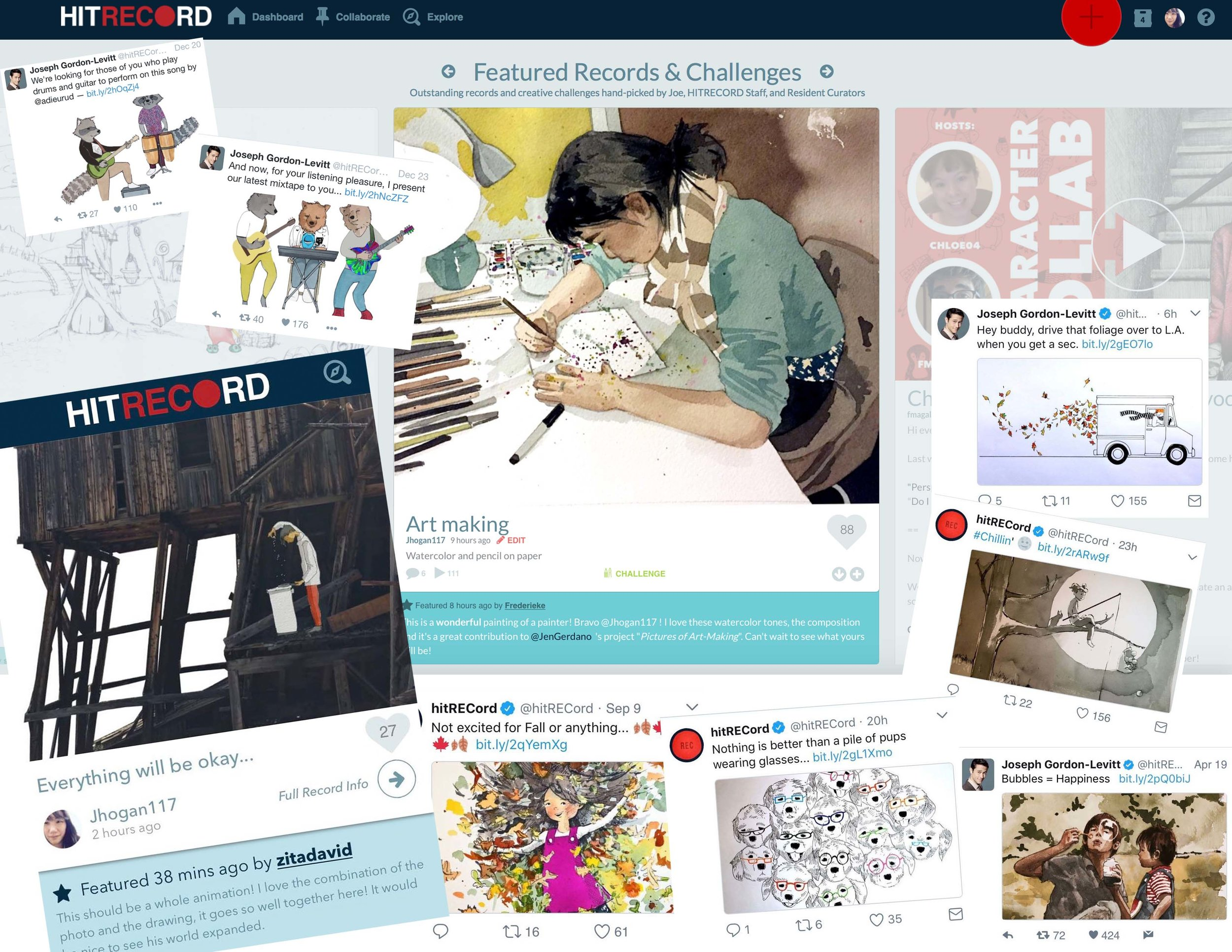 hitRECord! - Key Illustrator, USAIHitRECord is an online and collaborate production company for all kinds of artists. It's super rad. Learn more here!