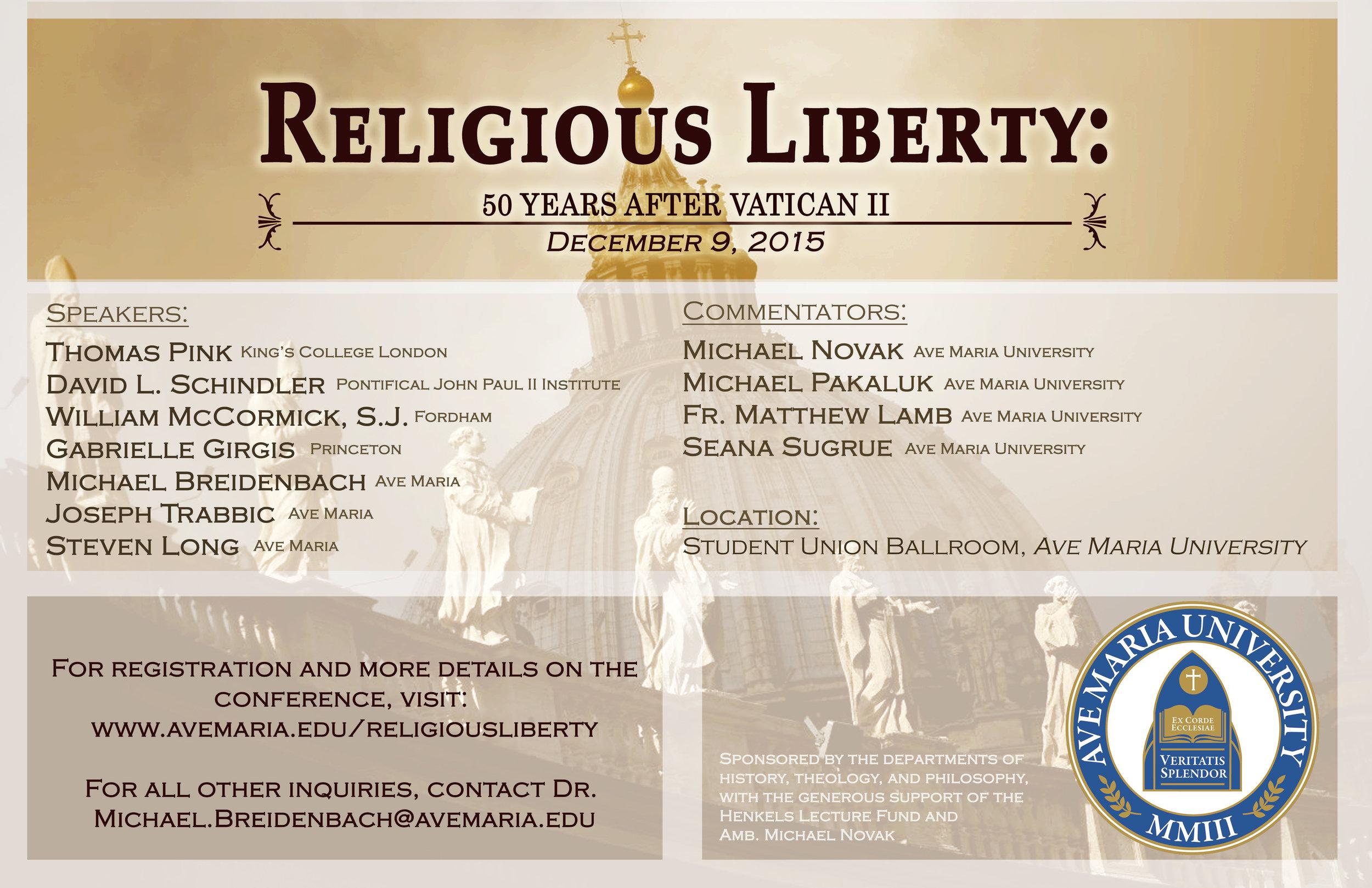 Ave Maria Dignitatis Humanae Conference.jpg