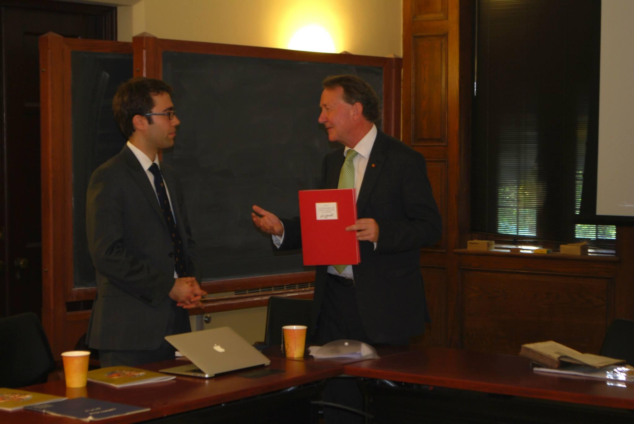 Lord David Alton and Michael Breidenbach at Princeton University