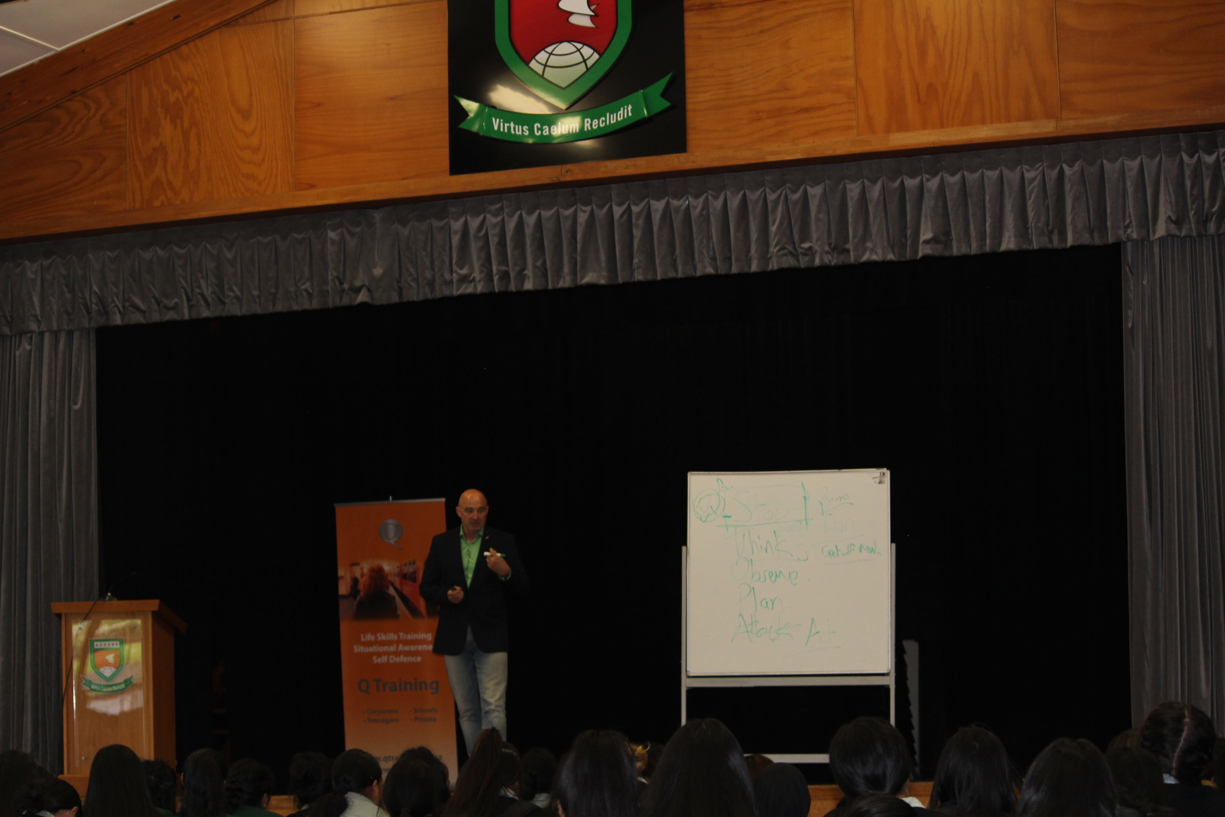 Situational Awareness - The greatest skill you can aquire for your personal safety and security. At School, at work, in travel, in life - A key message of the keynote presentation to Aorere College year 12 and 13 students in Nov 2018.