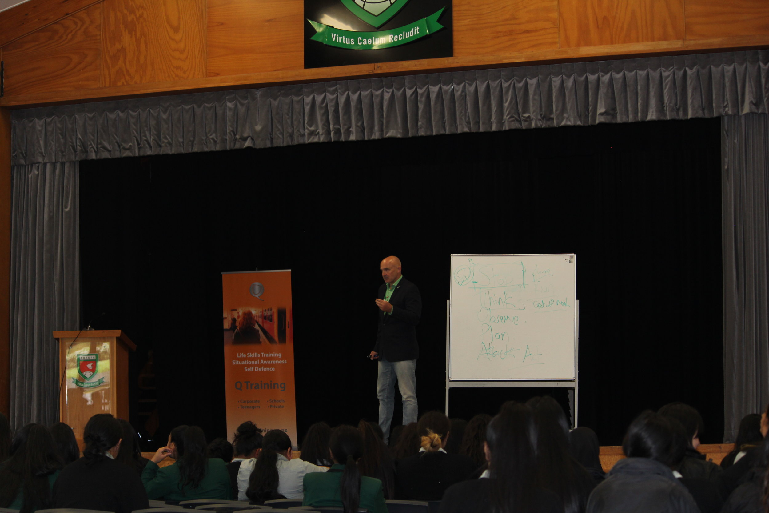 QRisk delivering life skills training to students in South Auckland