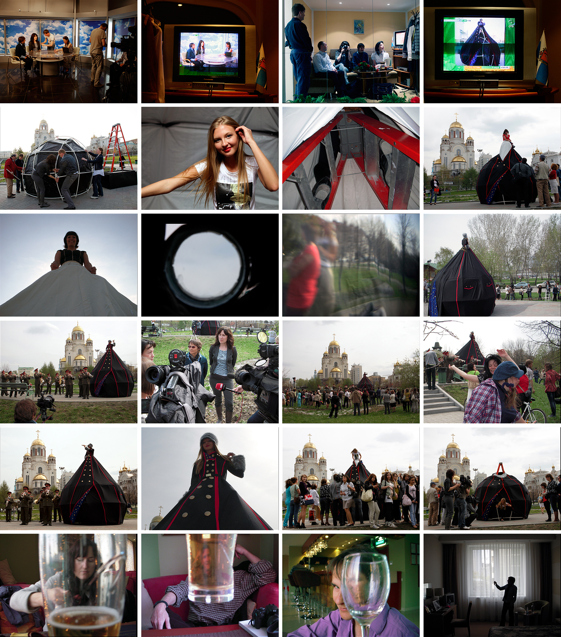 MS. RUSSIA: CAMERA OBSCURA DRESS TENT INSTALLATION  Church on the Blood, Yekaterinburg, Russia