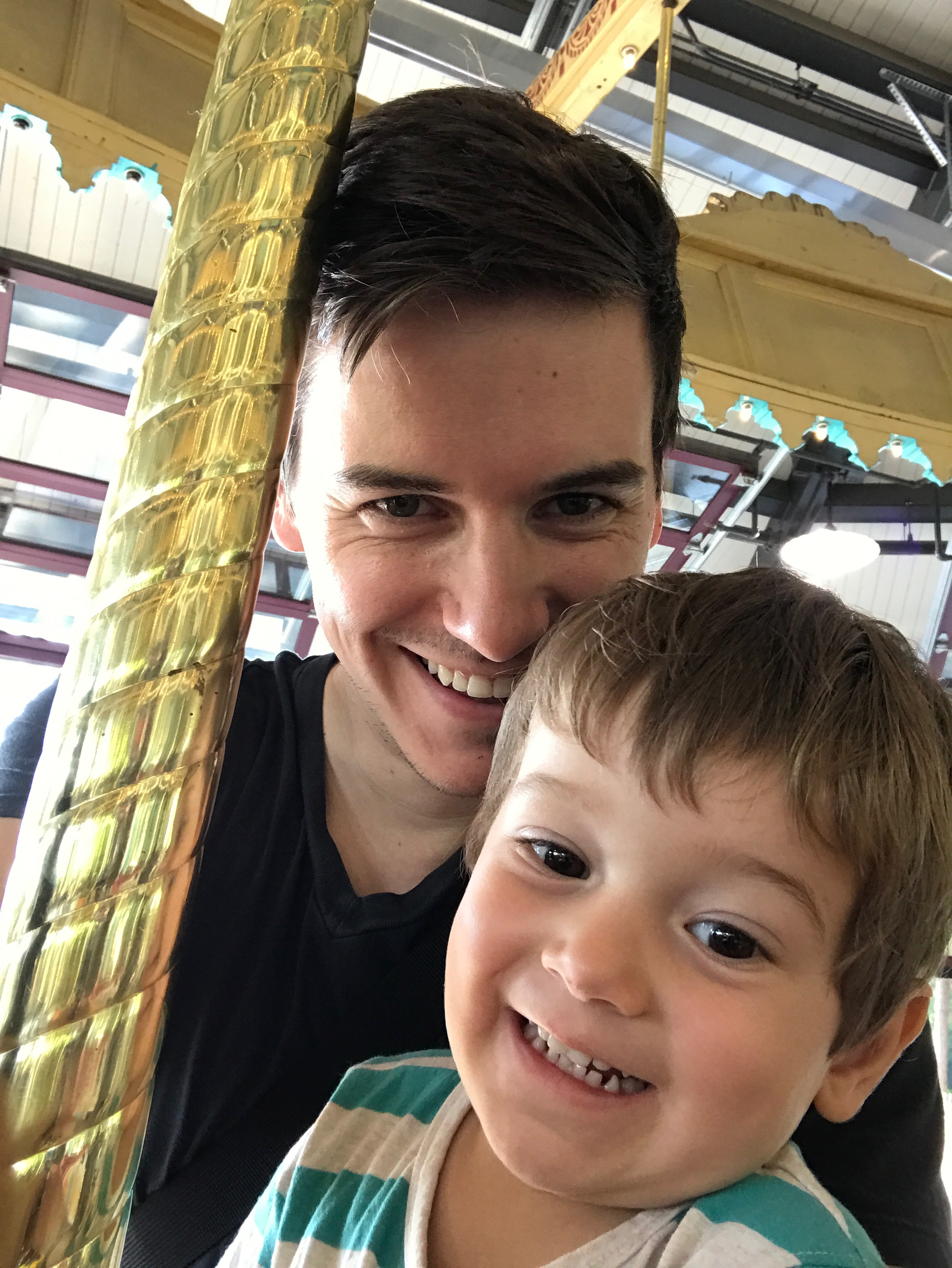 His first carousel ride at the Woodland Park Zoo.August 29, 2017.