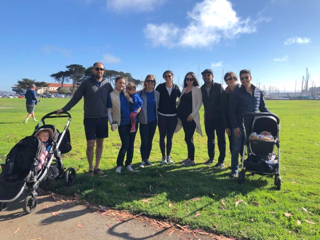 Sara, David, Addie & Daniel; Casey; Michele; Tali & AJ; Amy, Justin, & Dean (San Francisco)