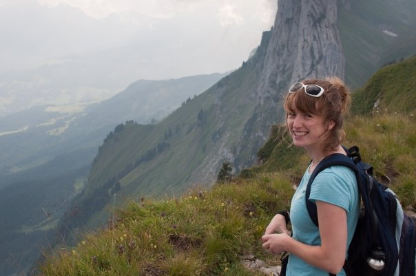 Me hiking in  Switzerland  about 10 years ago. Photo credit:  Tim Carr Photo