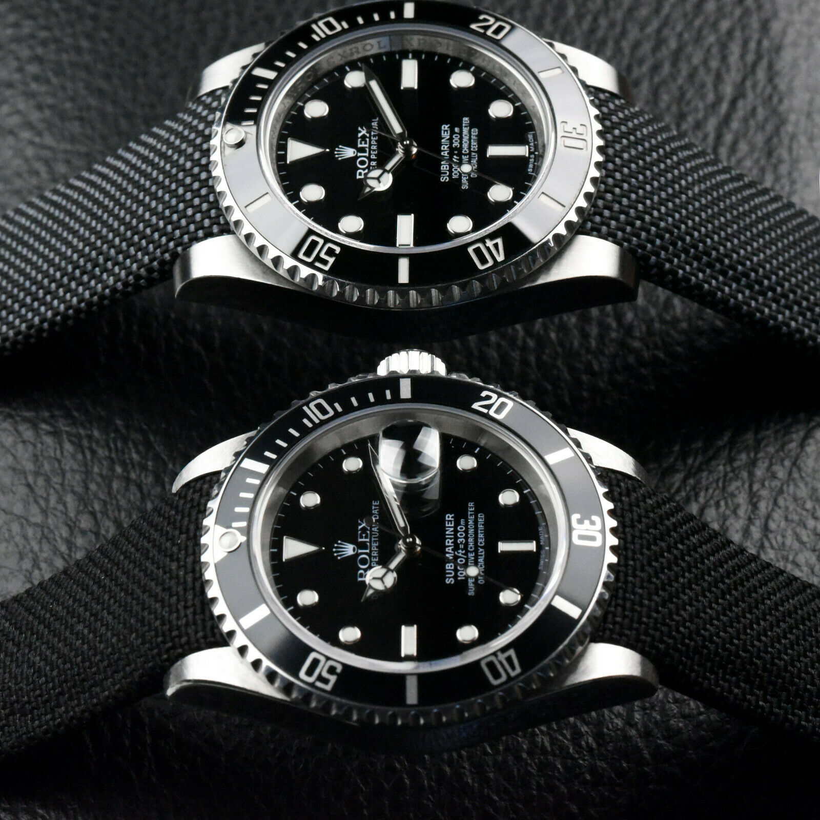 Everest Nylon Strap in Grey and Black on Rolex Subs   https://www.watchvault.com.au/strapstore/everest-curved-end-nylon-strap-for-rolex-with-tang-buckle