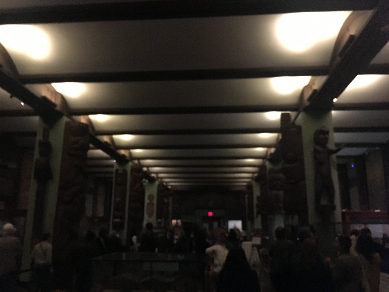 Entering the theatre at the Museum of Natural History