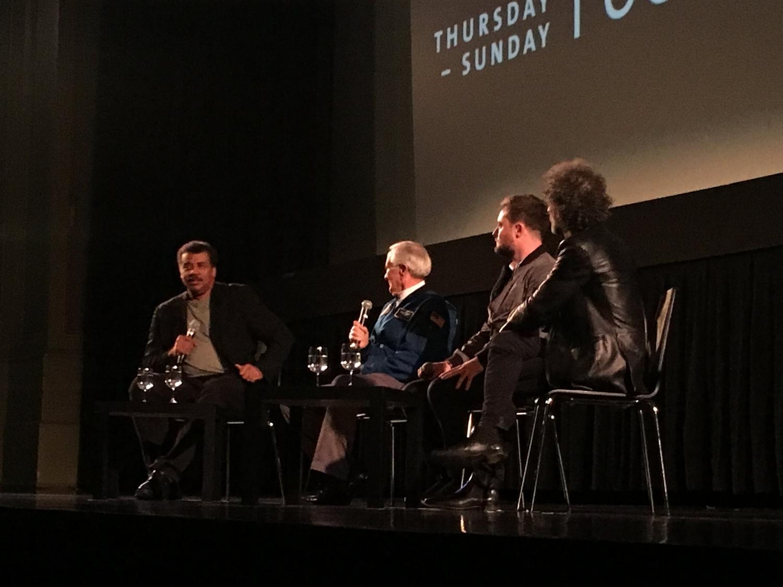 Seated L-R: Neil de Grasse Tyson, Charlie Duke, Robert Lewis, Jojo Mayer