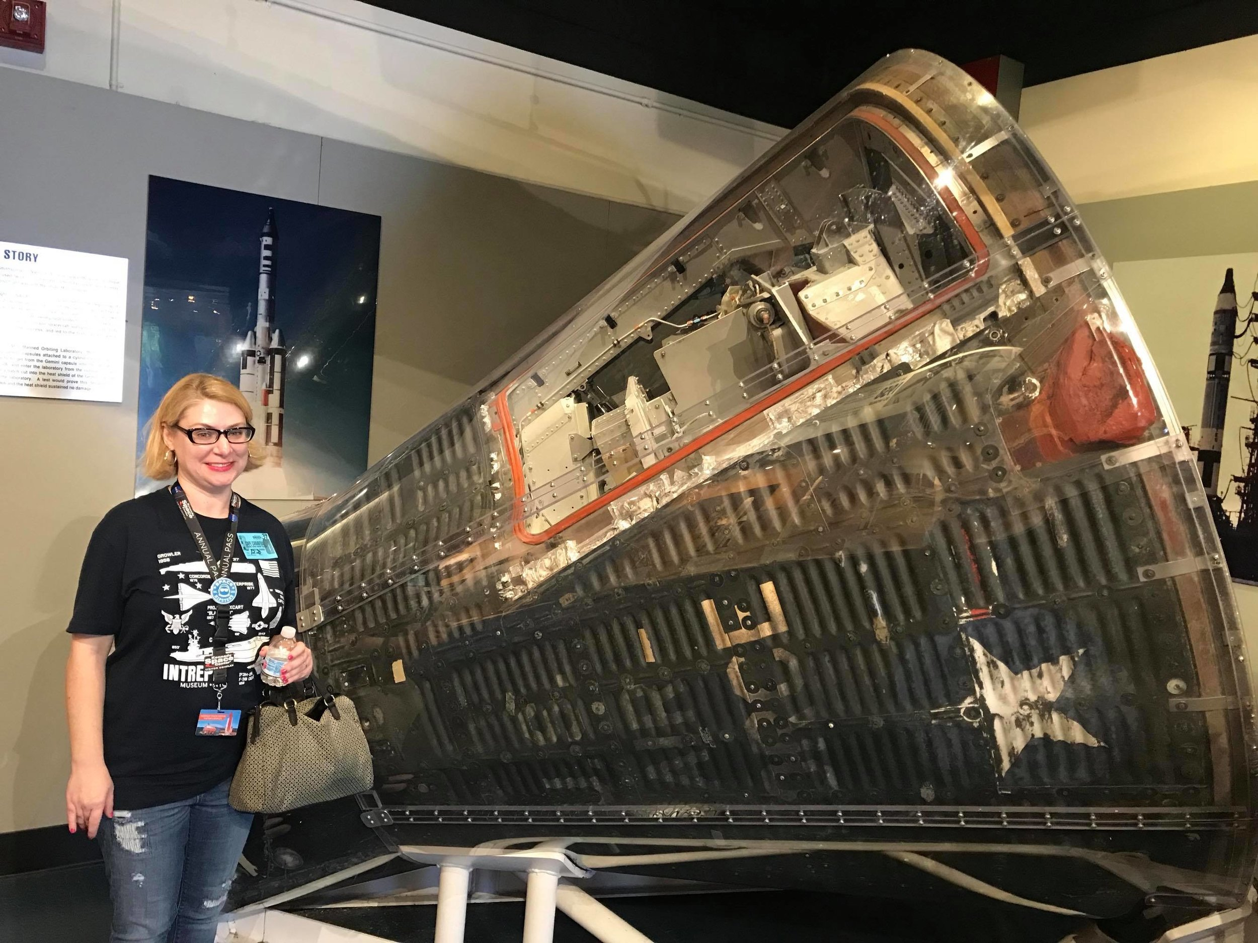 One highlight for Emily was finally getting to see the Gemini 2 capsule!(Photo: Chris Boyd)