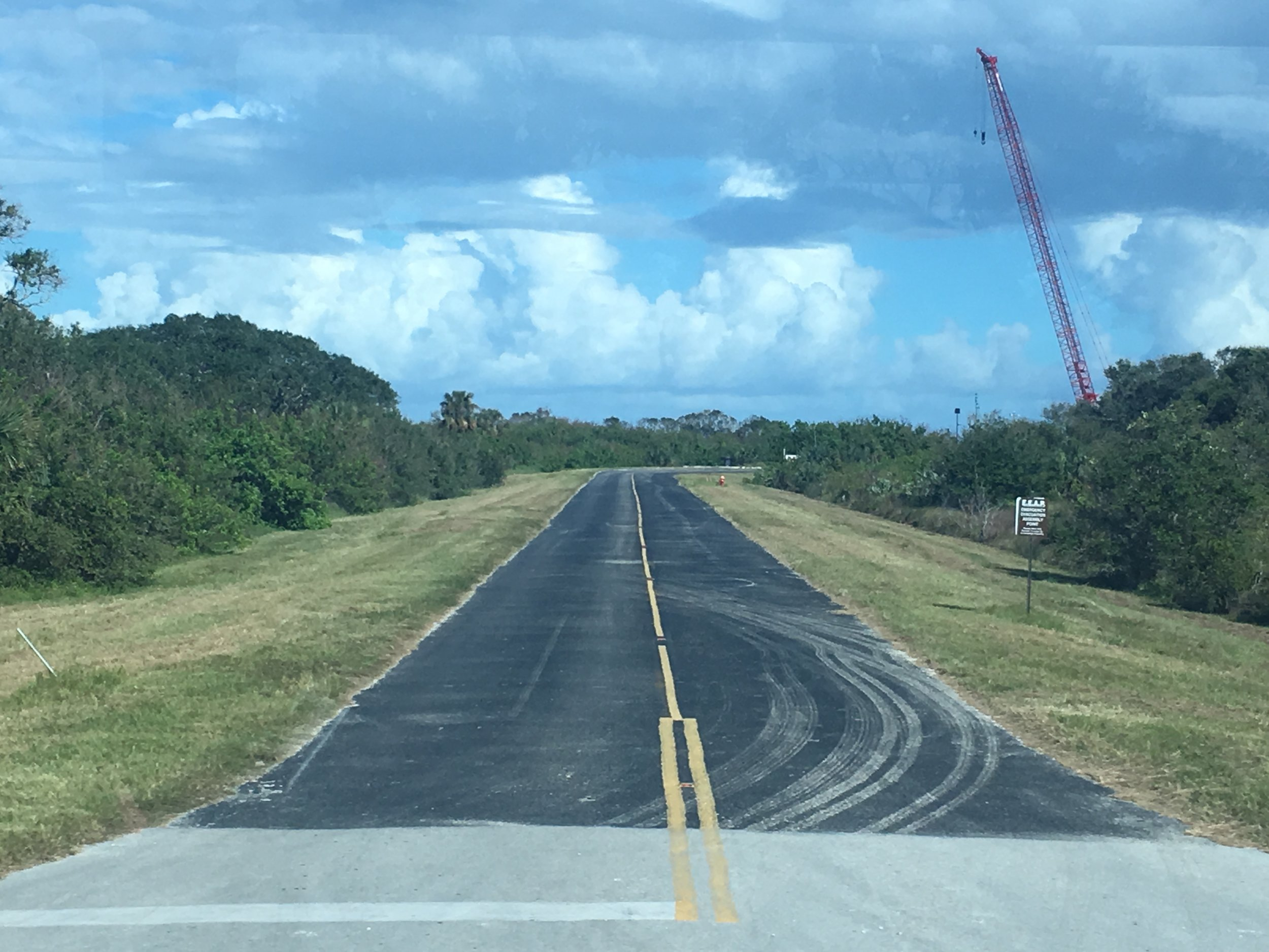 The road leading to SpaceX's Landing Zone 1 on Missile Row.