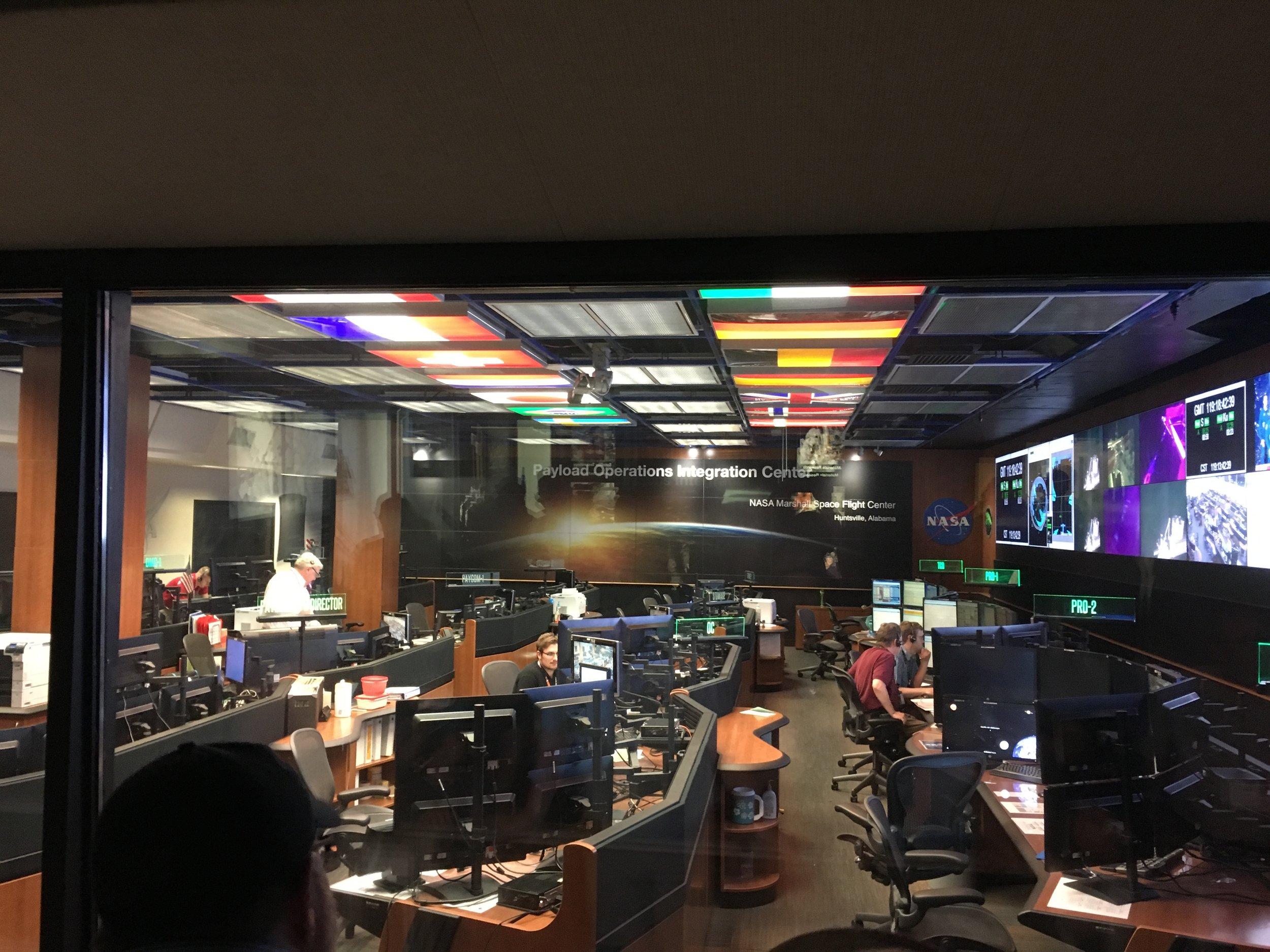 POIC control room at Marshall, April 2017