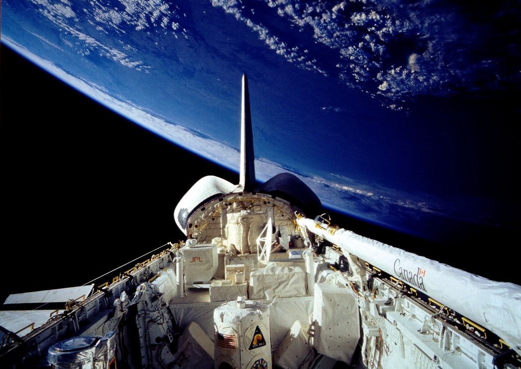 The same payload bay during STS-66 in 1994, filled with scientific equipment. To learn more about this mission, check out the link at the end of the article. (Courtesy of NASA)