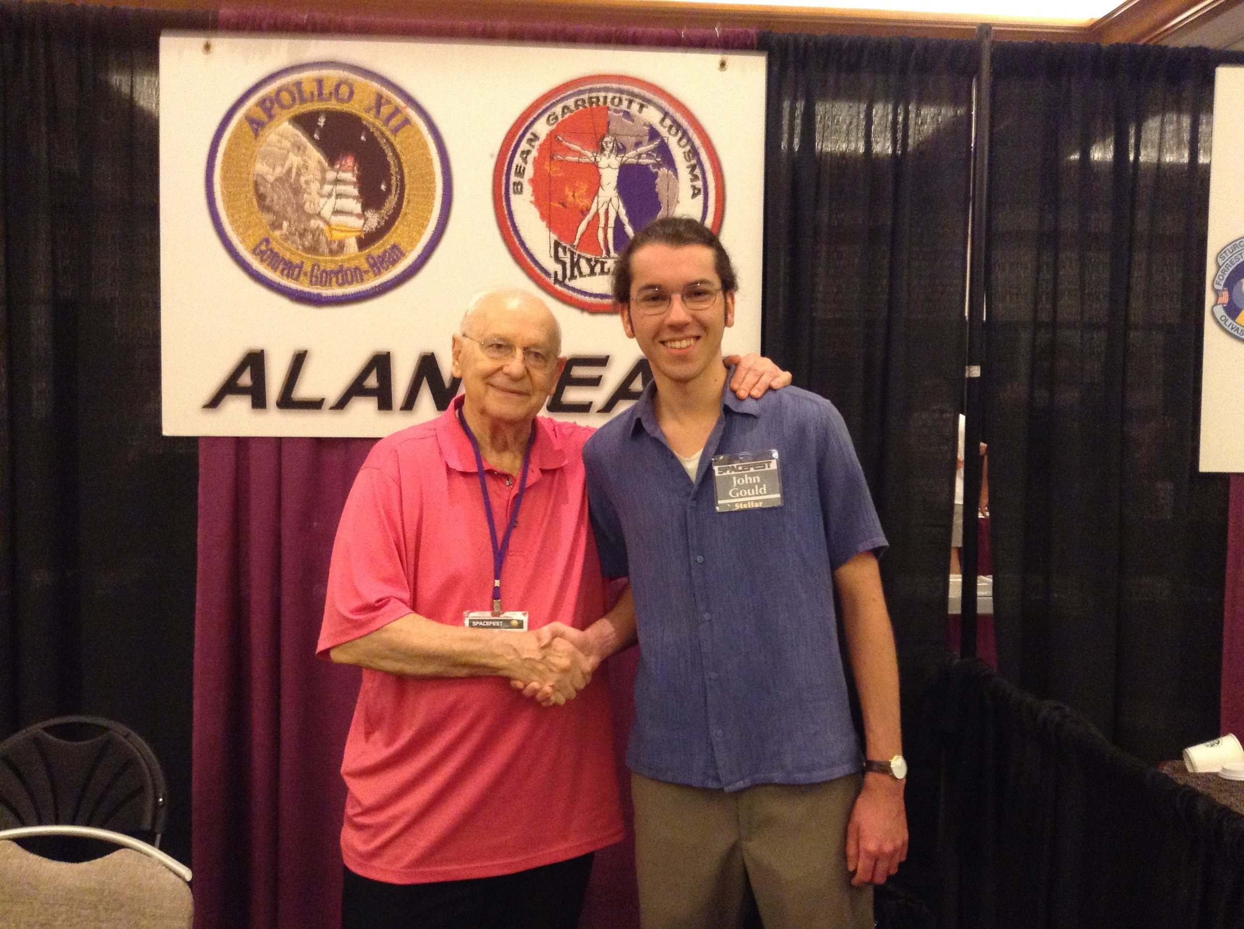 Alan Bean with the author, Spacefest VII, 2016.