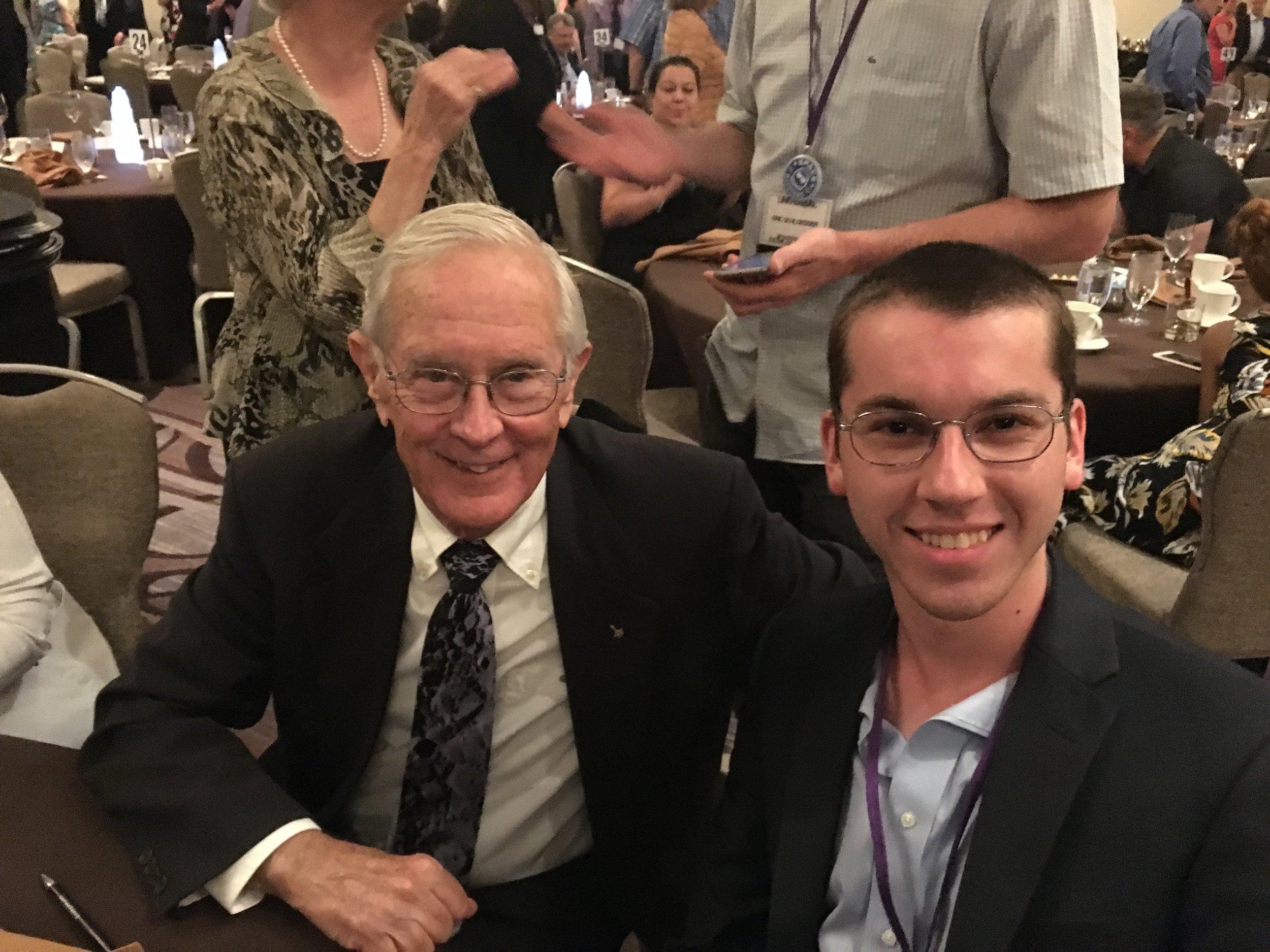 with Charlie Duke, Apollo 16 Lunar Module Pilot.