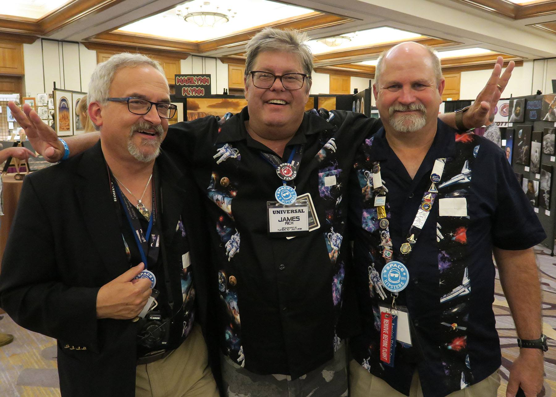 L-R: Mark Usciak, Jamie Rich, and Chris Boyd sporting their Sew Sister shirts! (Photo: Mark Usciak)