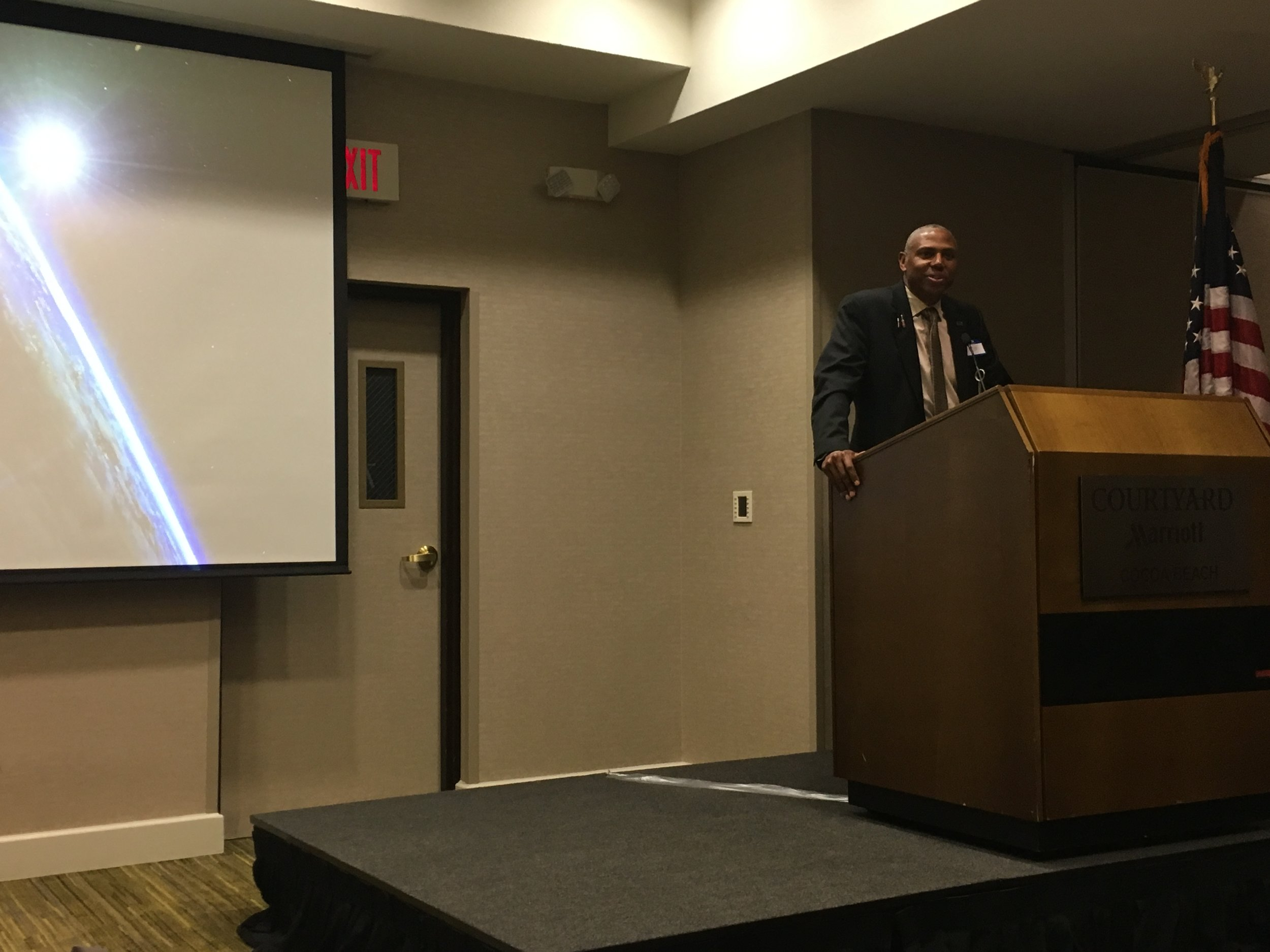 Ron Fortson begins his presentation…