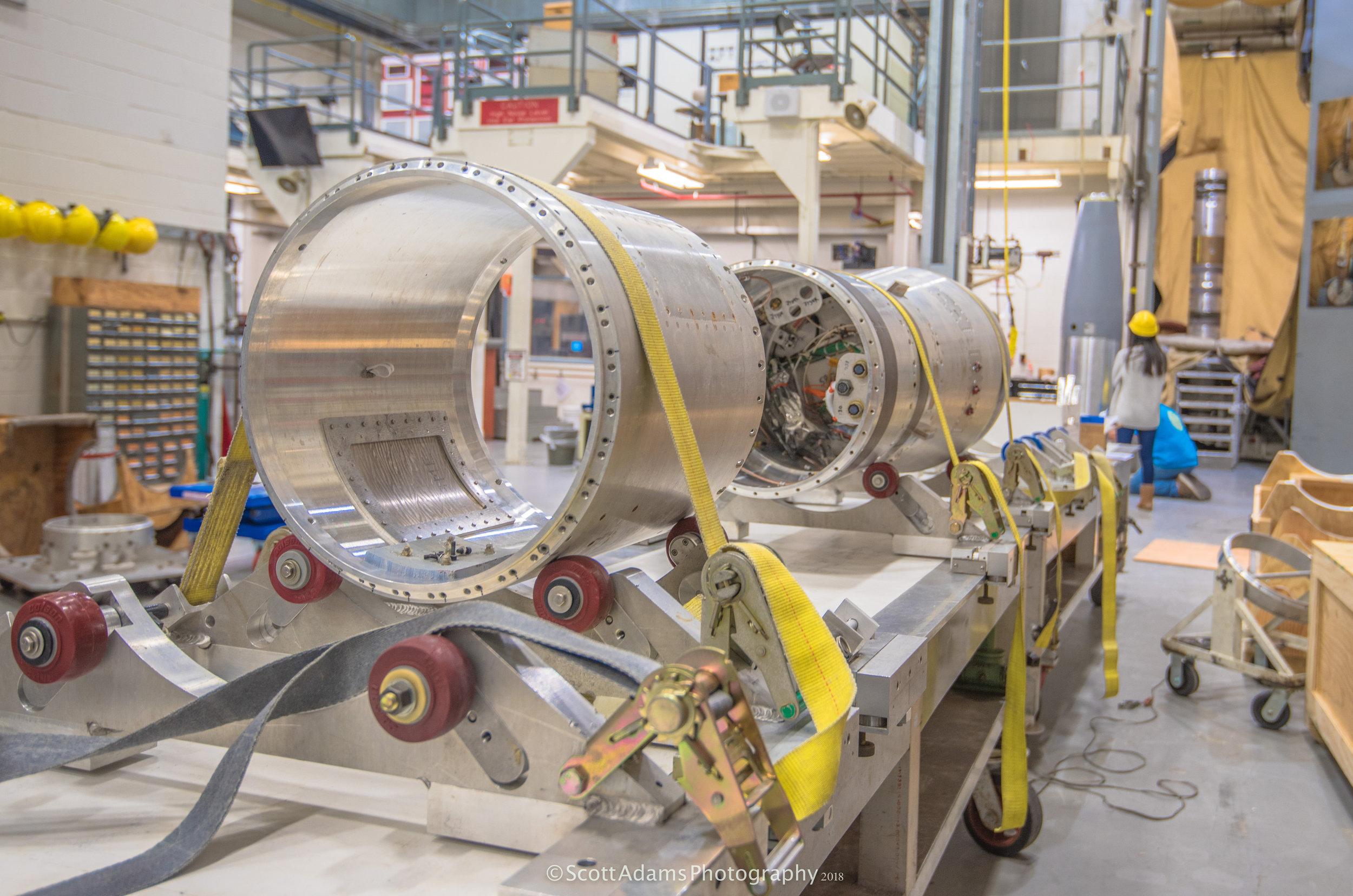 A sounding rocket under construction. (Photo: Scott Adams)