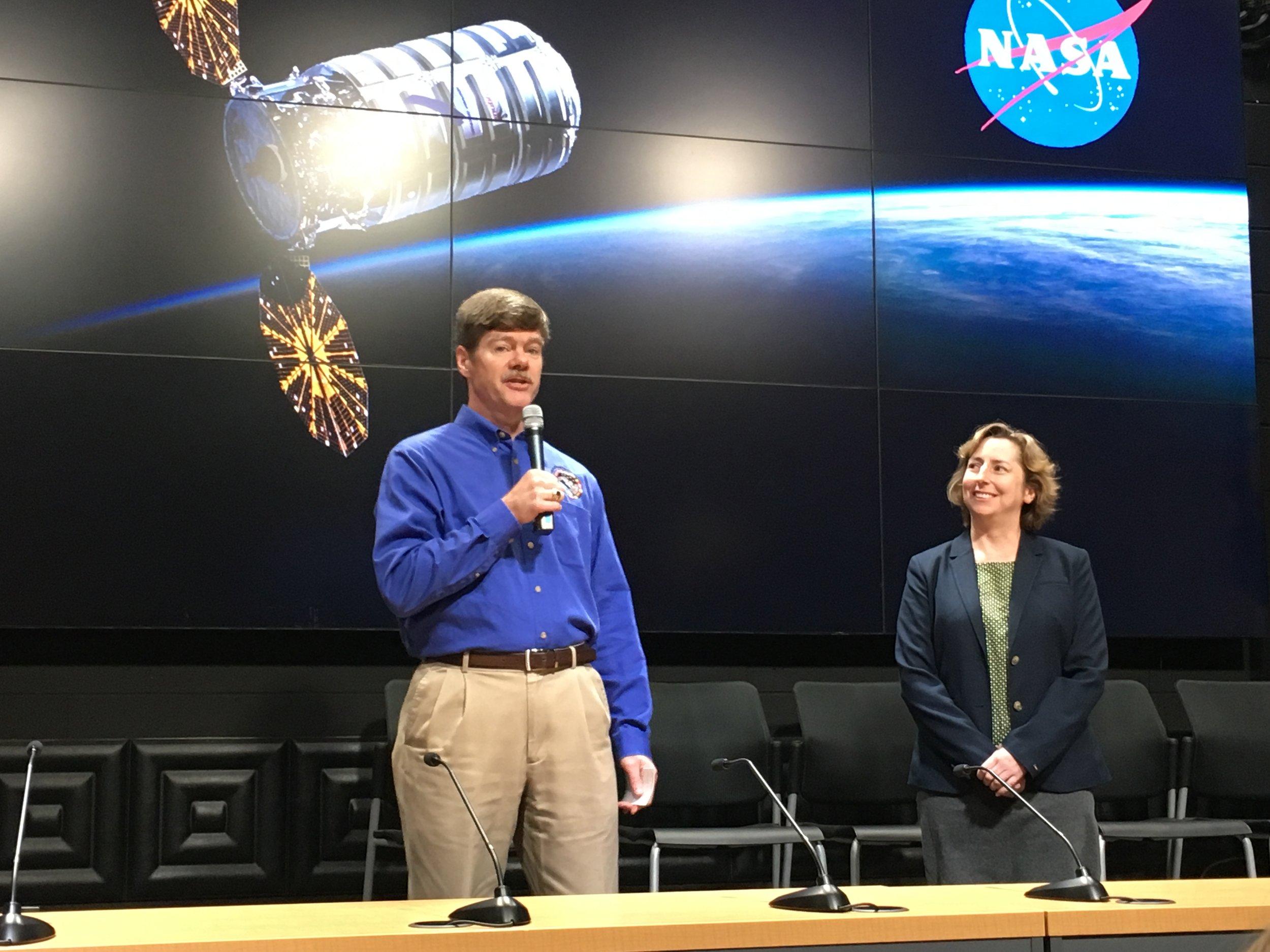 Peter Hasbrook, NASA JSC; and Liz Warren, ISS National Lab/NASA JSC.