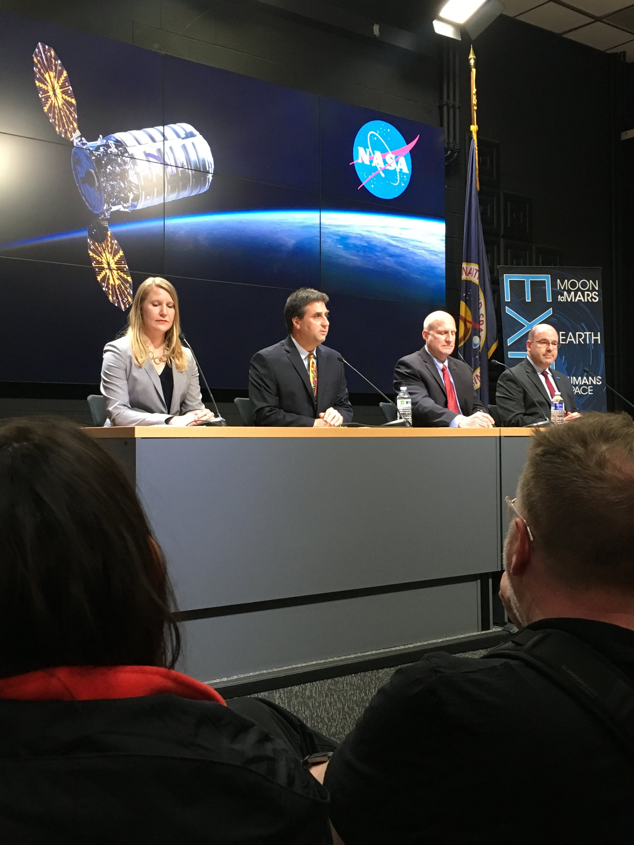 The post-launch press briefing underway.