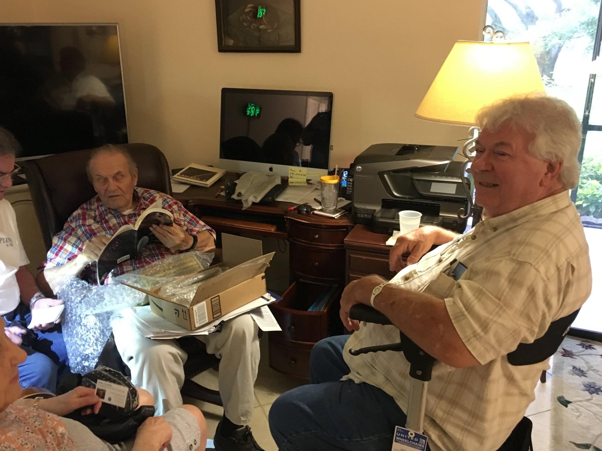 Eldon Hall (left) and Jimmie Loocke (right).