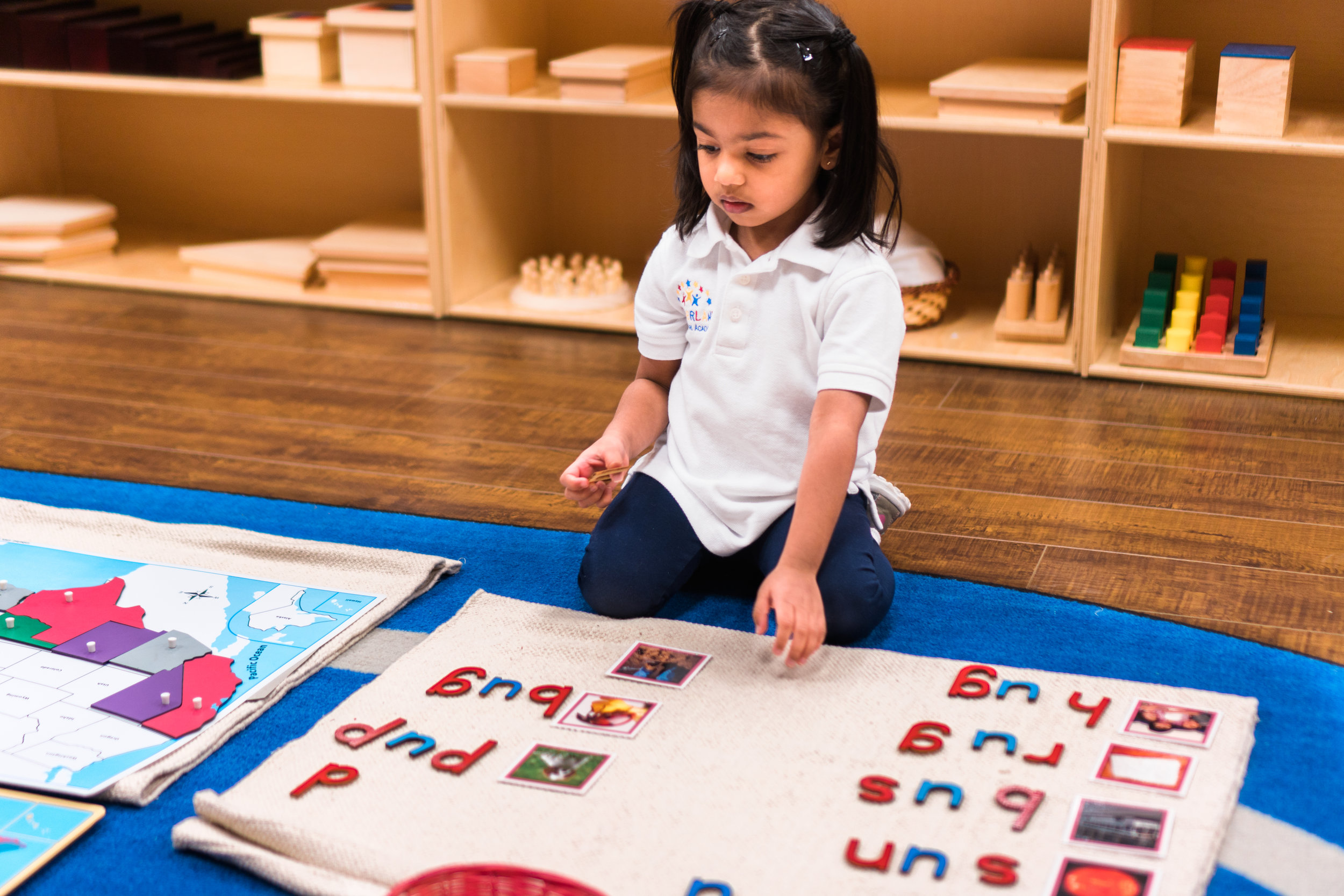 Language - To exercise command over spoken language, phonetics, cursive writing, and reading.