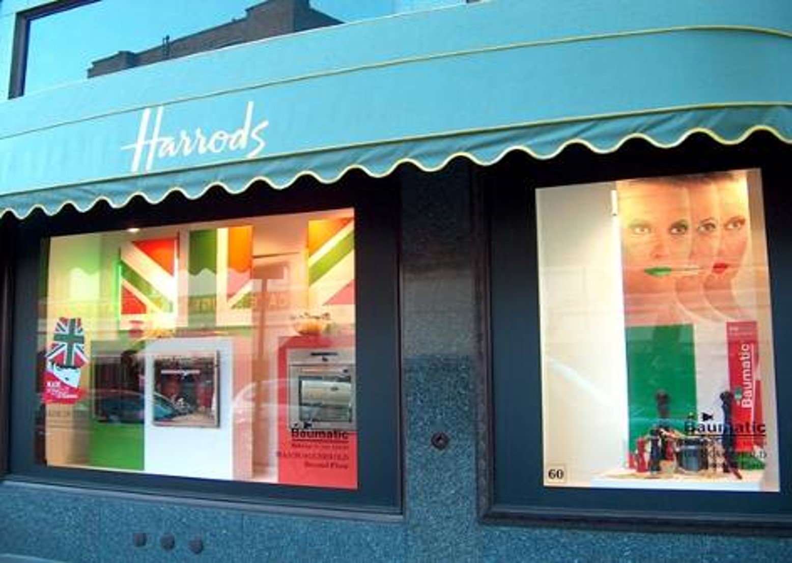 Baumatic's window display in Harrods