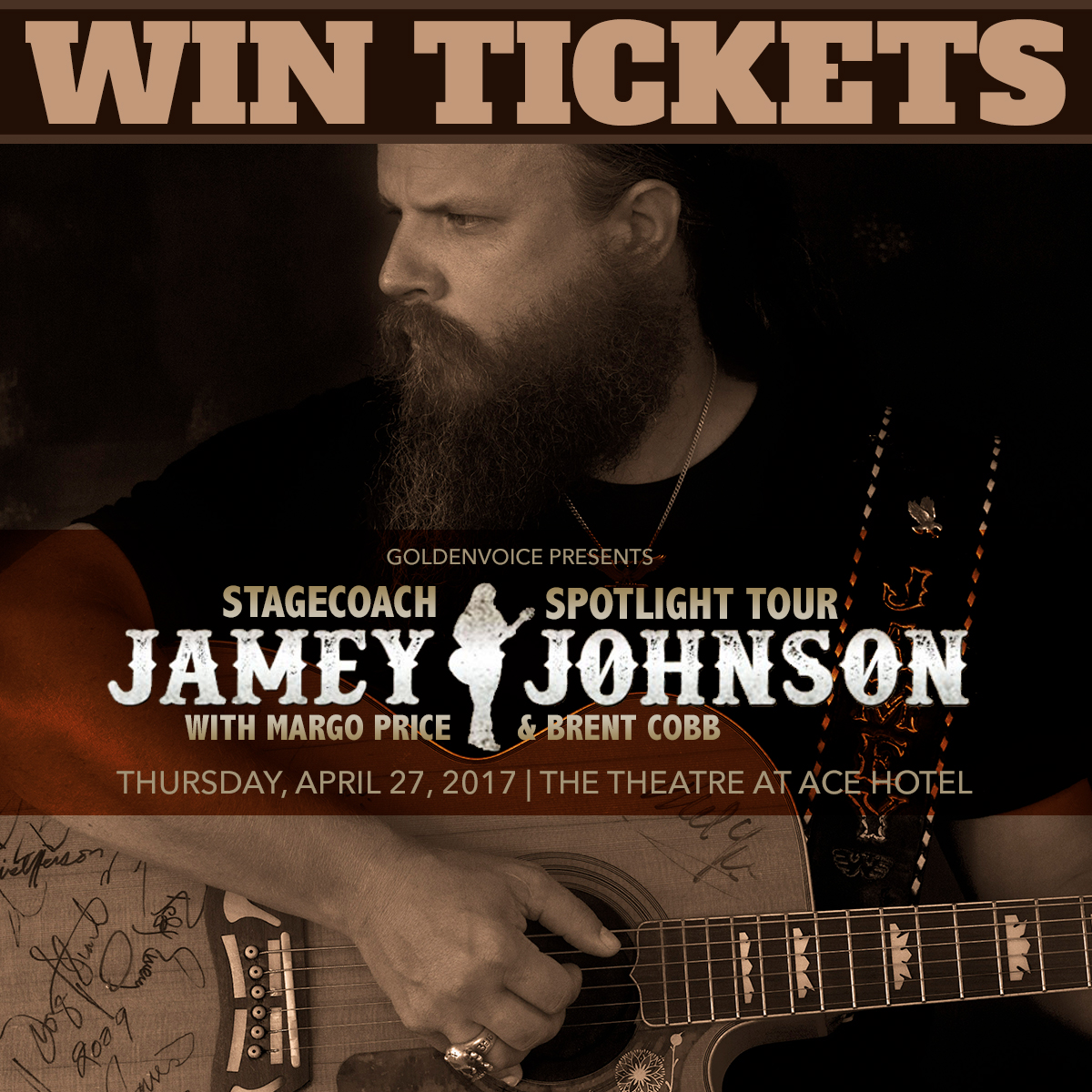 Win Tickets to Jamey Johnson Stagecoach Spotlight Tour