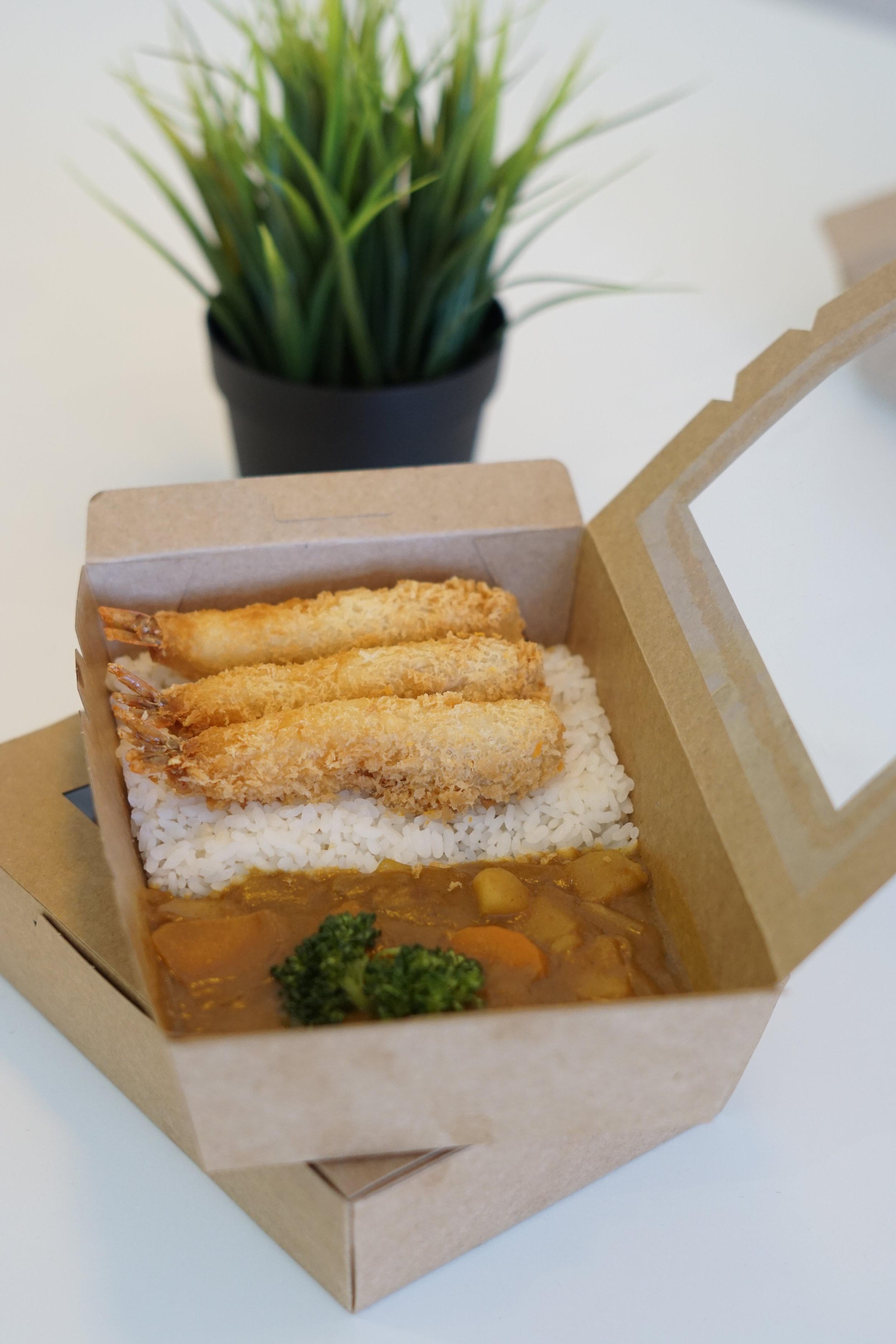 炸天婦羅蝦便當| Fried Tempura Prawn Bento | 唐揚げ天婦羅エビ弁と