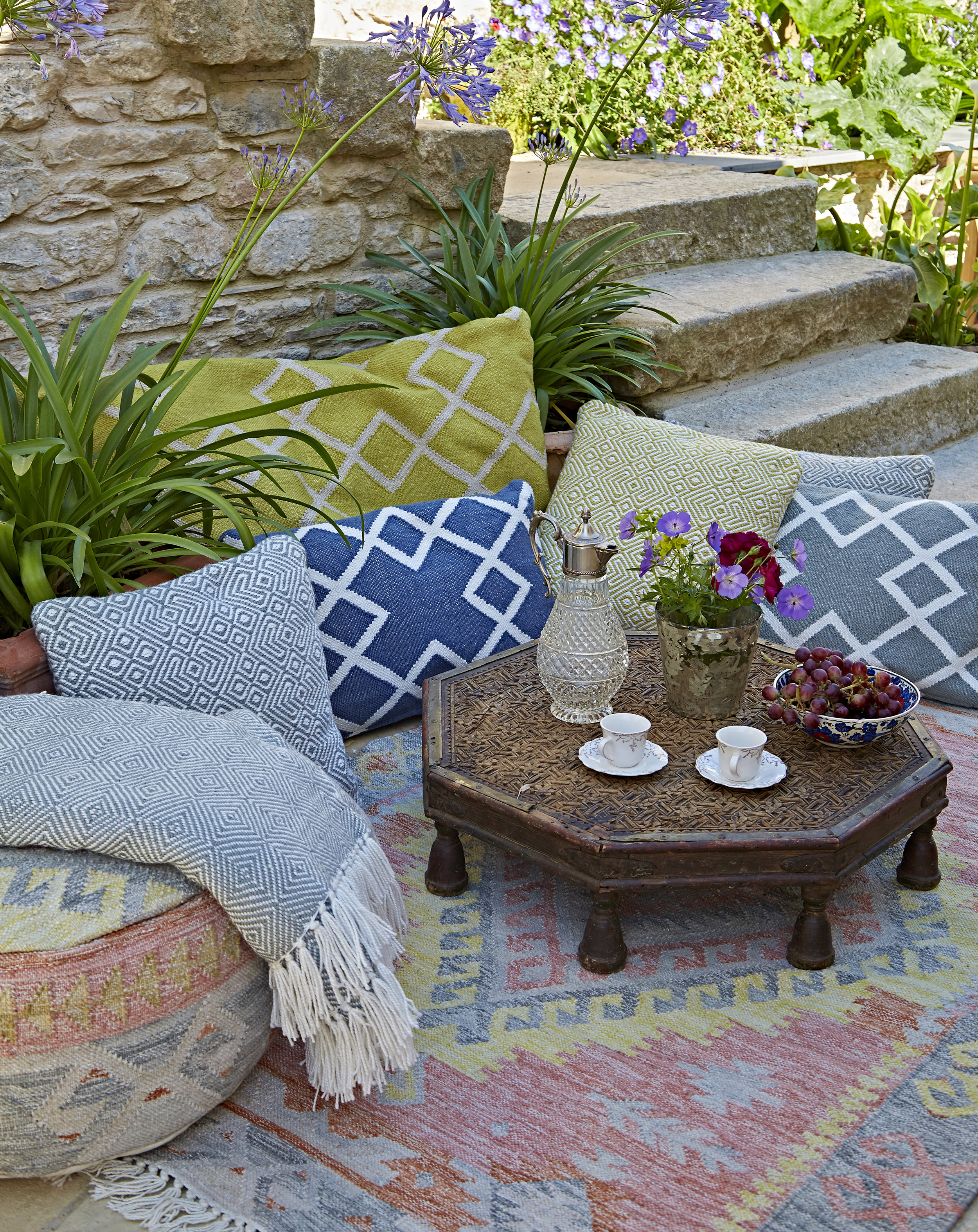 Stunning rugs, throws and cushions from Weaver Green, made from recycled plastic bottles.