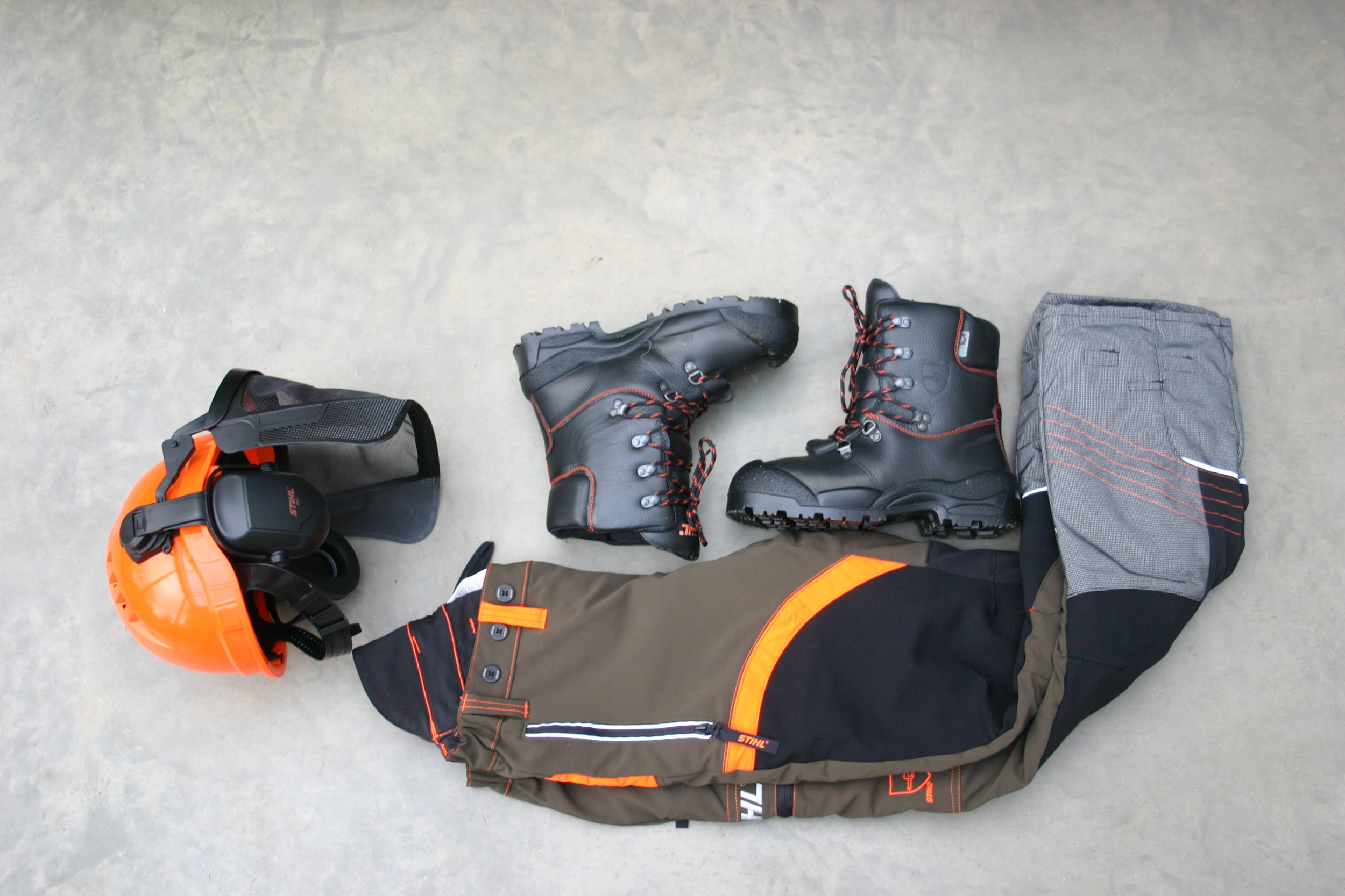 safety kit for chainsawing from Stihl