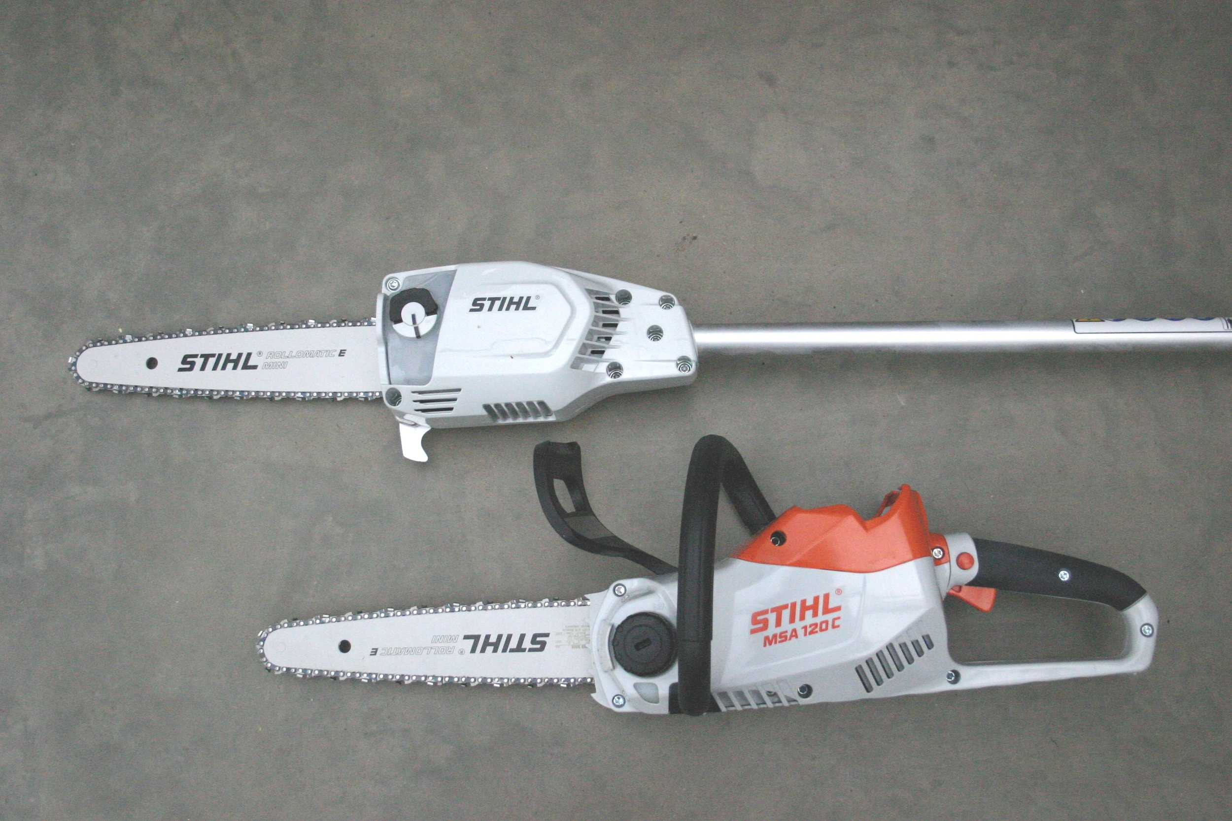 Stihl+mini+chainsaw+and+pole+pruner