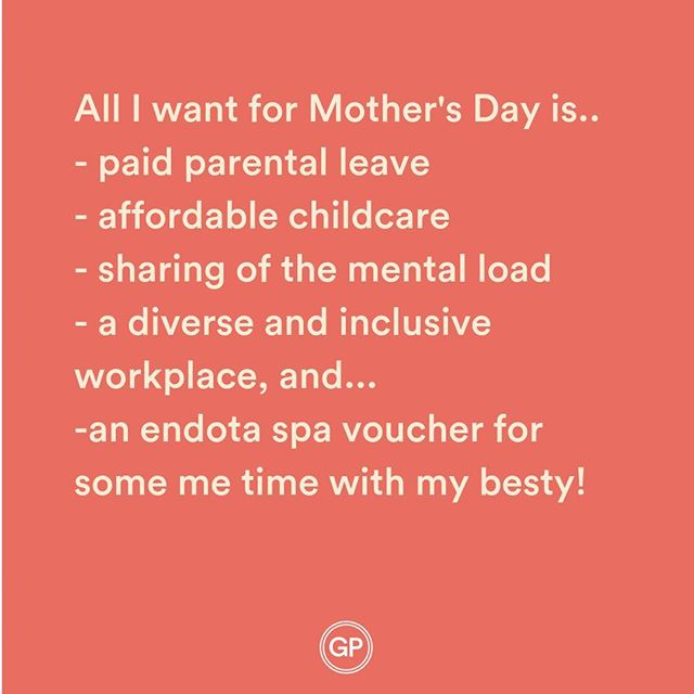 Last chance to enter mamas! Head to our competition post and tag a mum doing a stellar job for your chance to win a $400 @endotaspa voucher to share!  Next week...we're talking election and policies...what's in it for working parents?  #giveaway #win #mothersday #endota #spa #mothersdaygifts #aussiemumlife #workingmum #mothersdaygiveaway #metine #selfcare #motherhood #motherhoodunplugged #formum #sydneymums #brisbanemums #parentalleave #maternityleave #pregnancy #amazing #instacompetition #instawin #instacomp #melbournemums #perthmums #returntowork #gracepapers #mymum