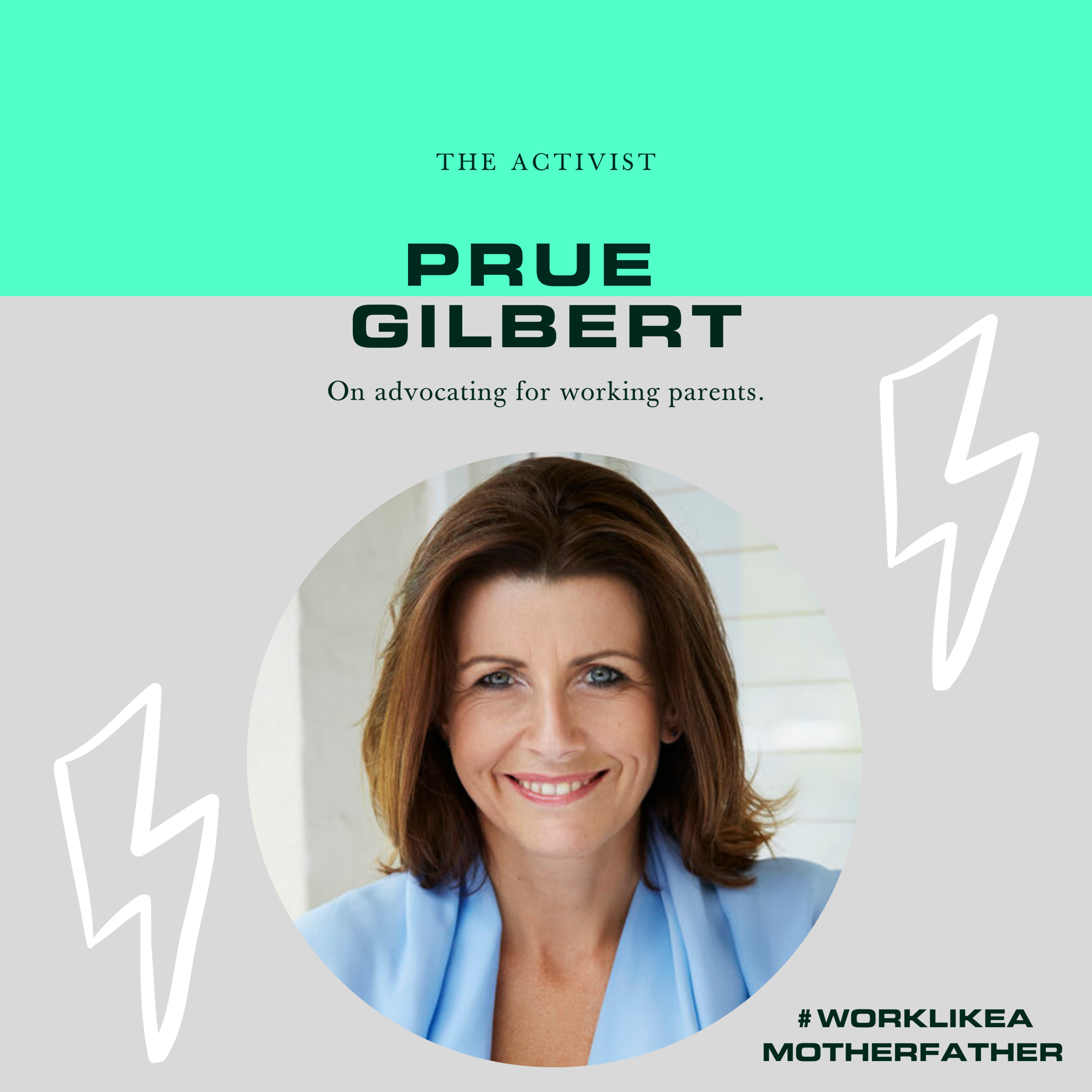 CEO Prue on podcast Work Like A Motherfather discussing diversity and equality in the workplace and the basics of understanding your rights as a working parent.