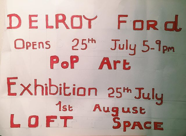 tonight:: debut solo exhibition by #DelroyFord in the LOFT at @croydonartsstore ‼️🎸 supported by @mossatturf and @turfprojects and curated by @rosieldn